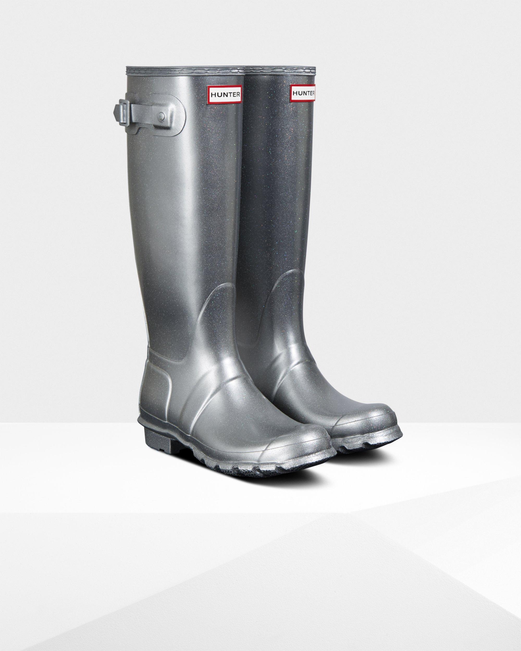 Women S Original Tall Cosmic Glitter Rain Boots