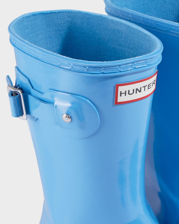 HUNTER Rubber Women's Original Tour Short Rain Boots in Blue