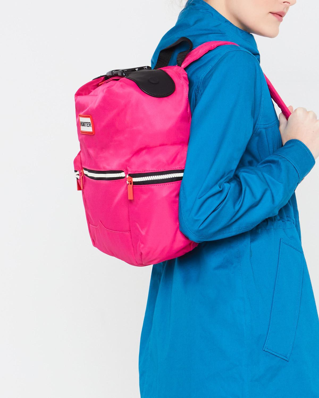 Hunter - Pink Original Mini Top Clip Backpack - Nylon - Lyst. View  fullscreen