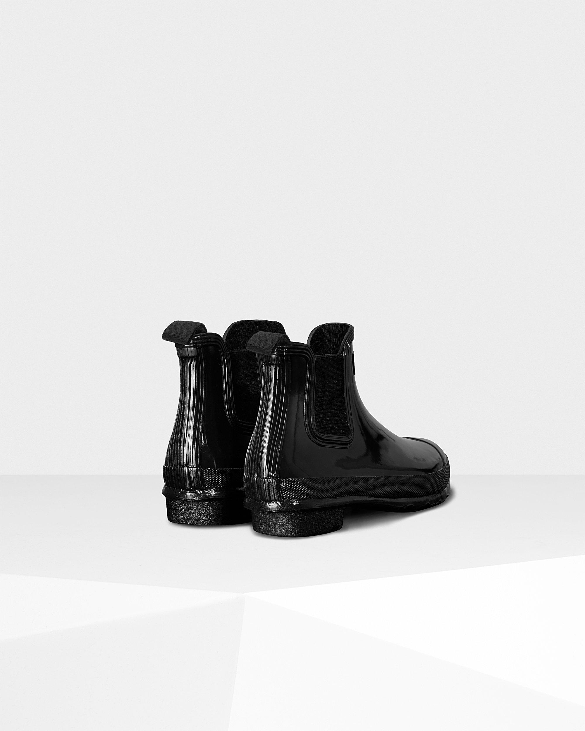 4b976fed4b4 Black Women's Original Gloss Chelsea Boots