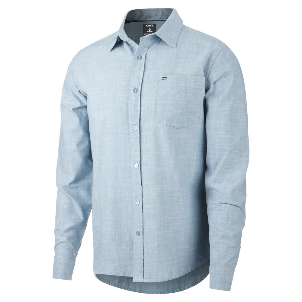 c000fb317a Hurley Blue One And Only 3.0 Long Sleeve Shirt for men