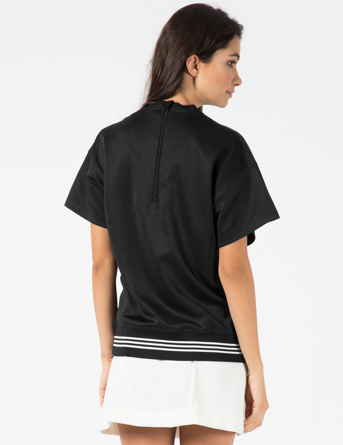 adidas originals hyke x black hyke pullover in black lyst. Black Bedroom Furniture Sets. Home Design Ideas