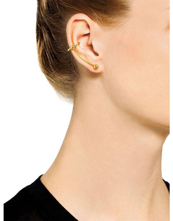 Helix left ear crawler - Metallic Maria Black m4L943p