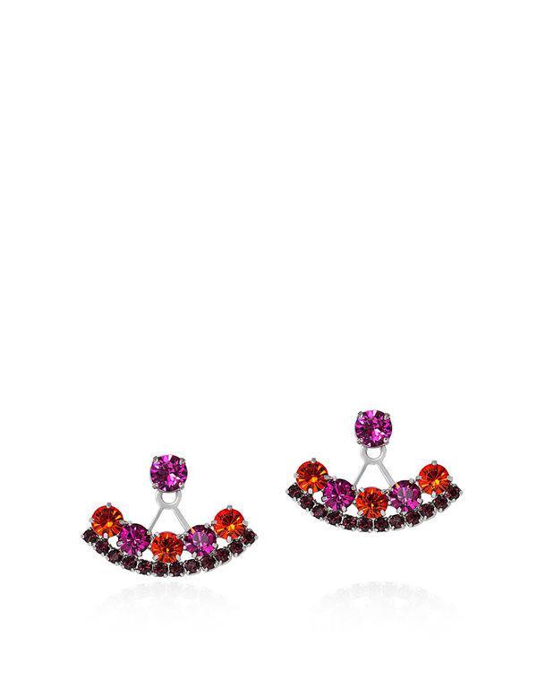Joomi Lim PIXEL PERFECT CRYSTAL Deco Earrings Rhodium JI7iHbfxEI