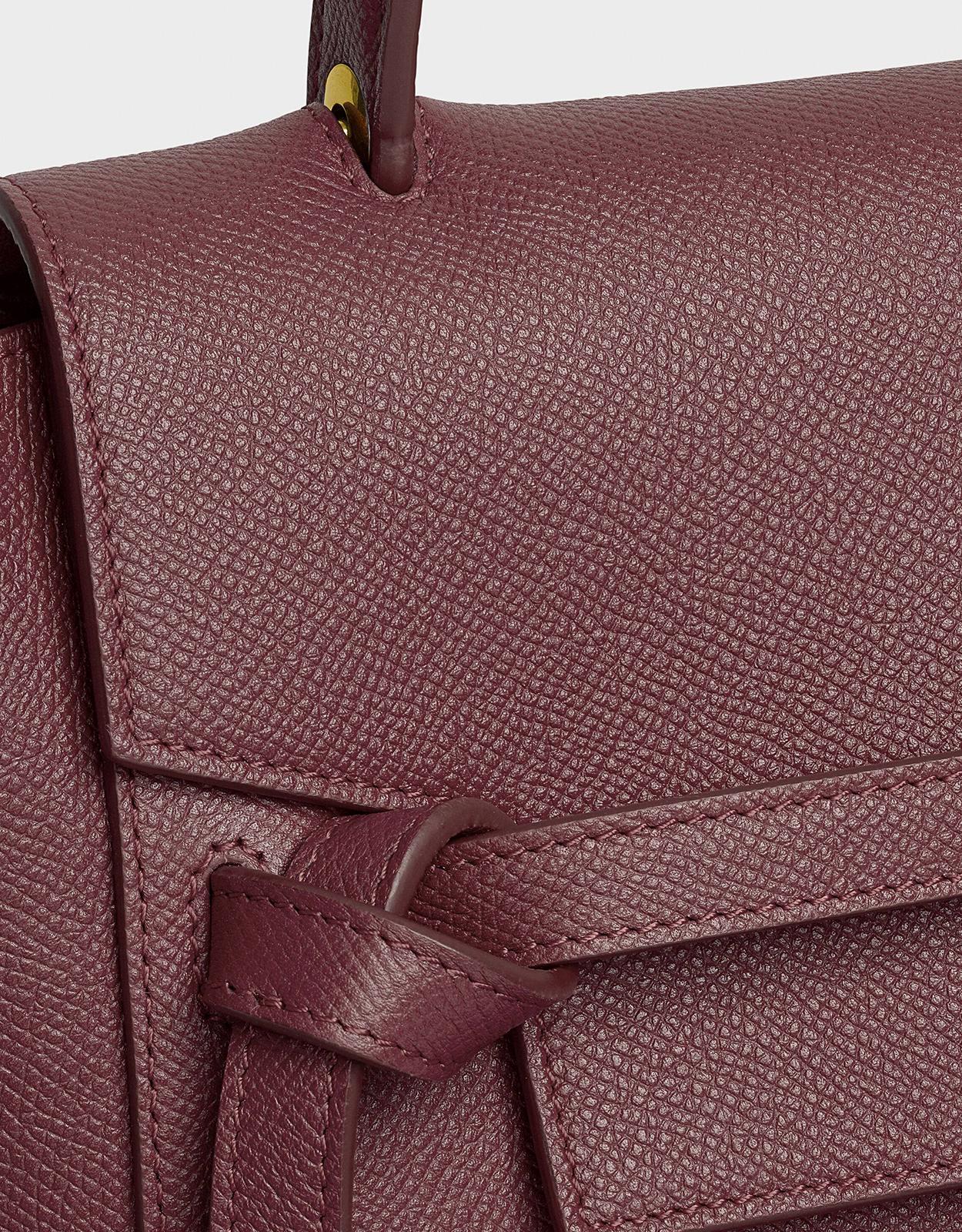 Celine Leather Micro Belt Bag In Grained Calfskin In Purple Lyst