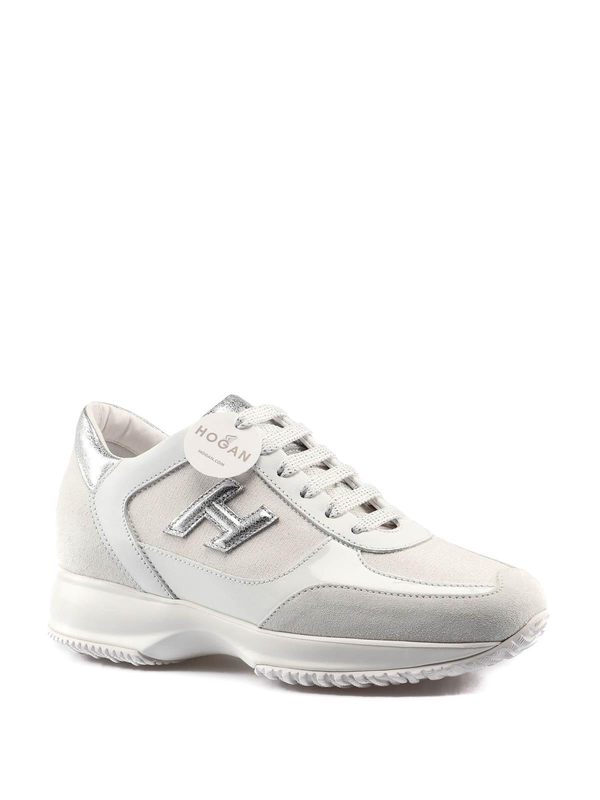 Hogan Suede Interactive H Flock Sneakers in Light Grey (Gray) - Lyst