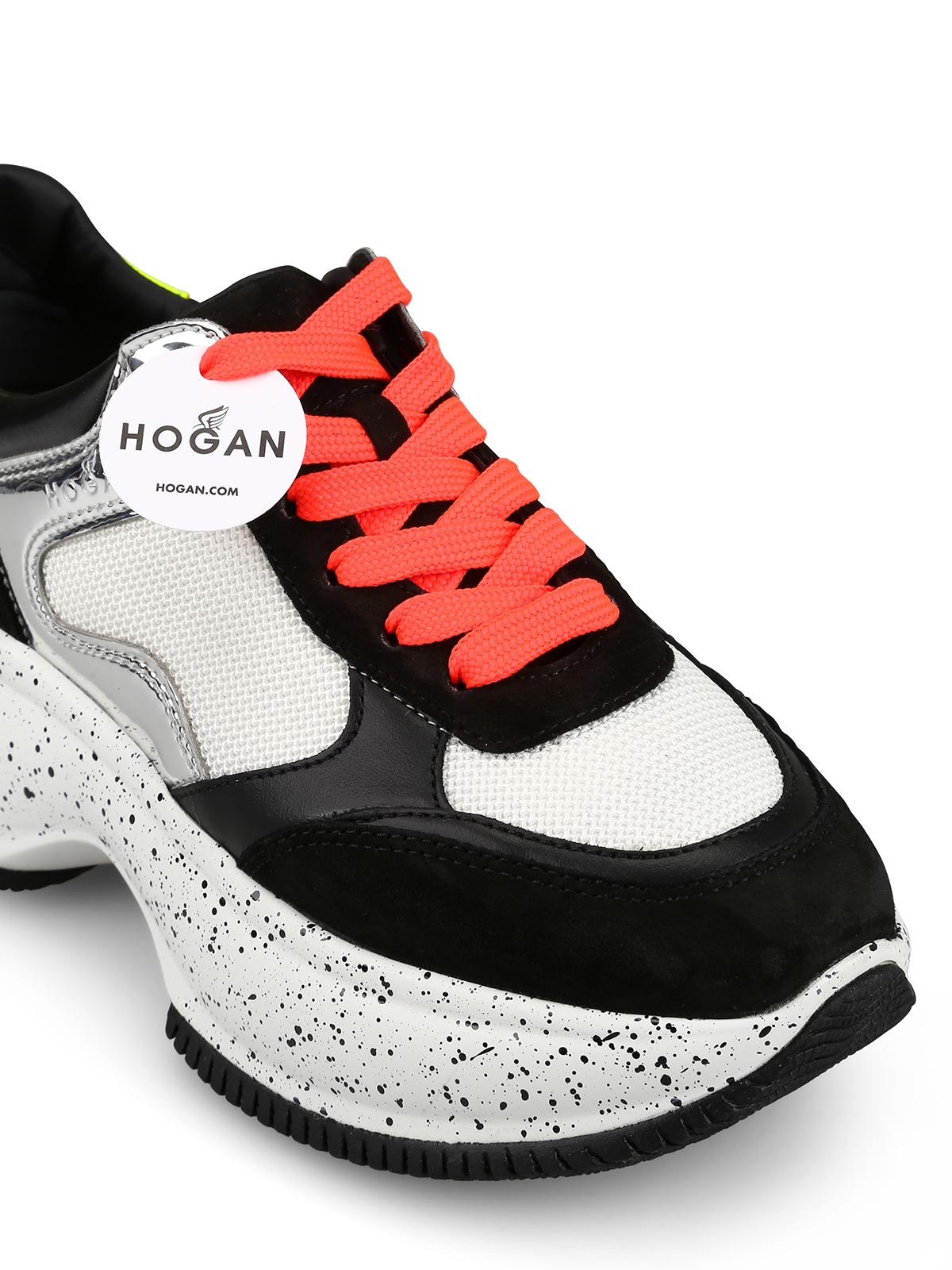 Hogan Suede Maxi I Active Fluo Detailed Sneakers - Lyst
