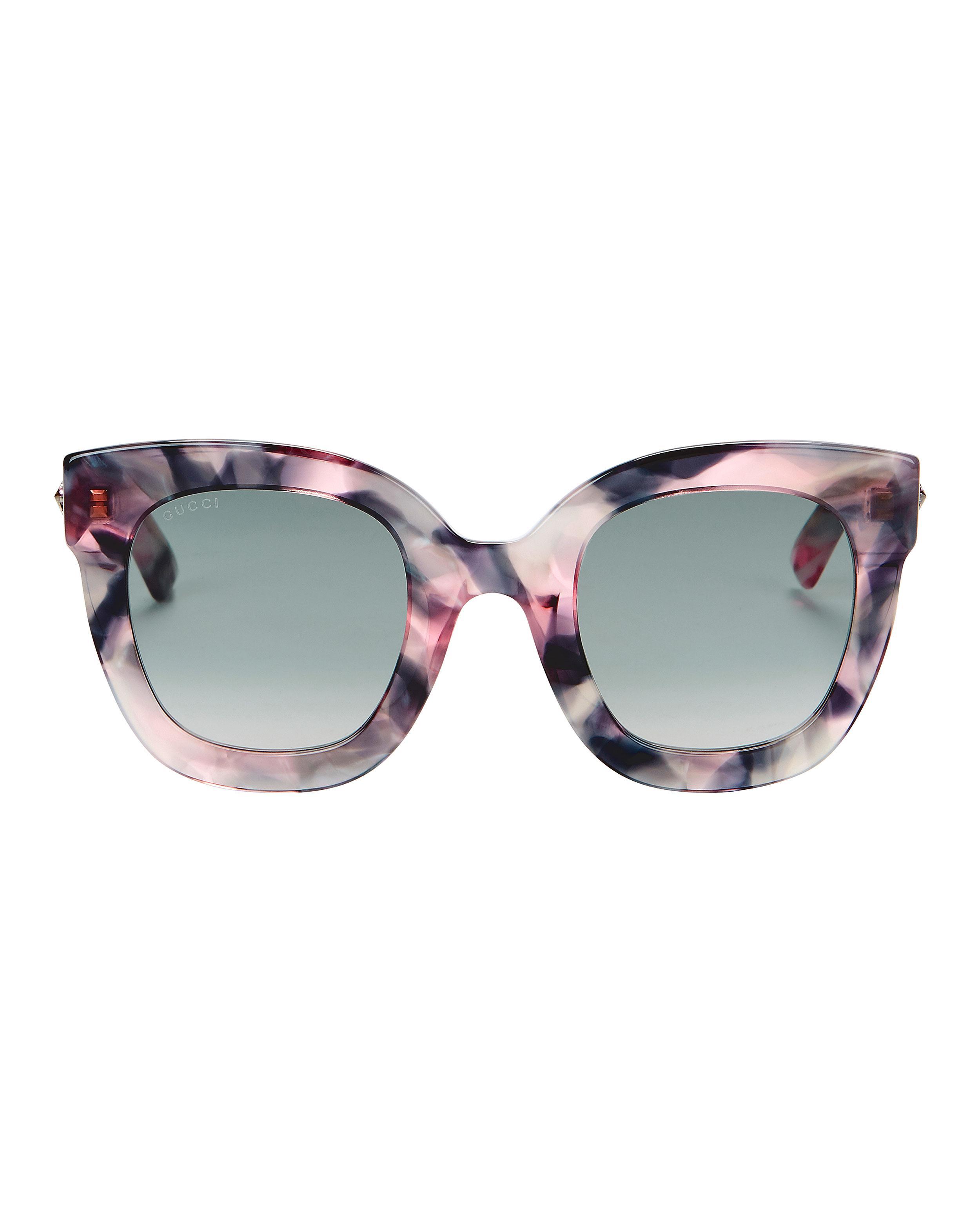 61e77d08dd7 Gucci - Multicolor Oversized Marble Acetate Sunglasses - Lyst. View  fullscreen