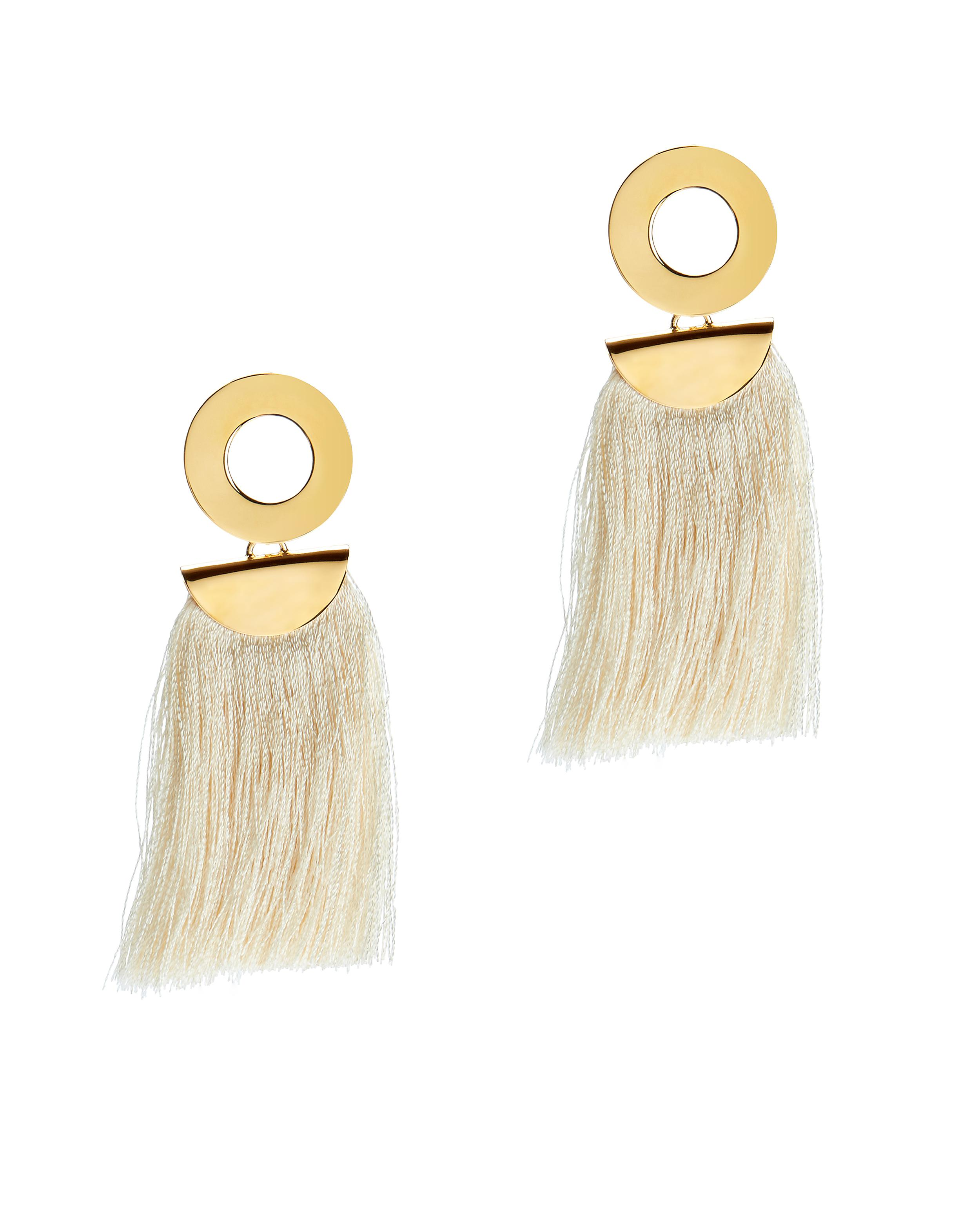 Lizzie Fortunato Go-Go crater tassel earrings 4BsyqzgEU