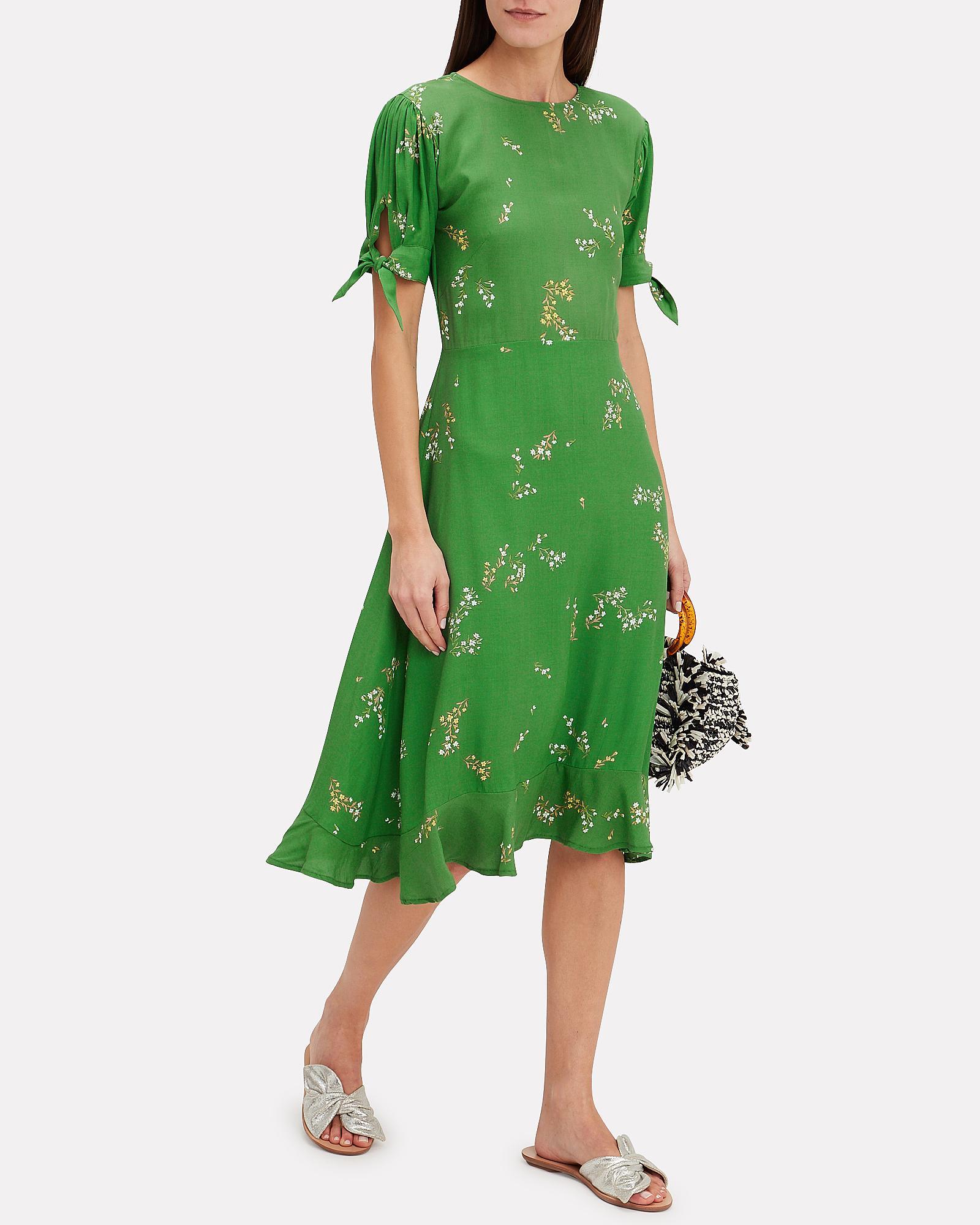 b04be04fd414 Faithfull The Brand Emilia Floral Midi Dress in Green - Lyst