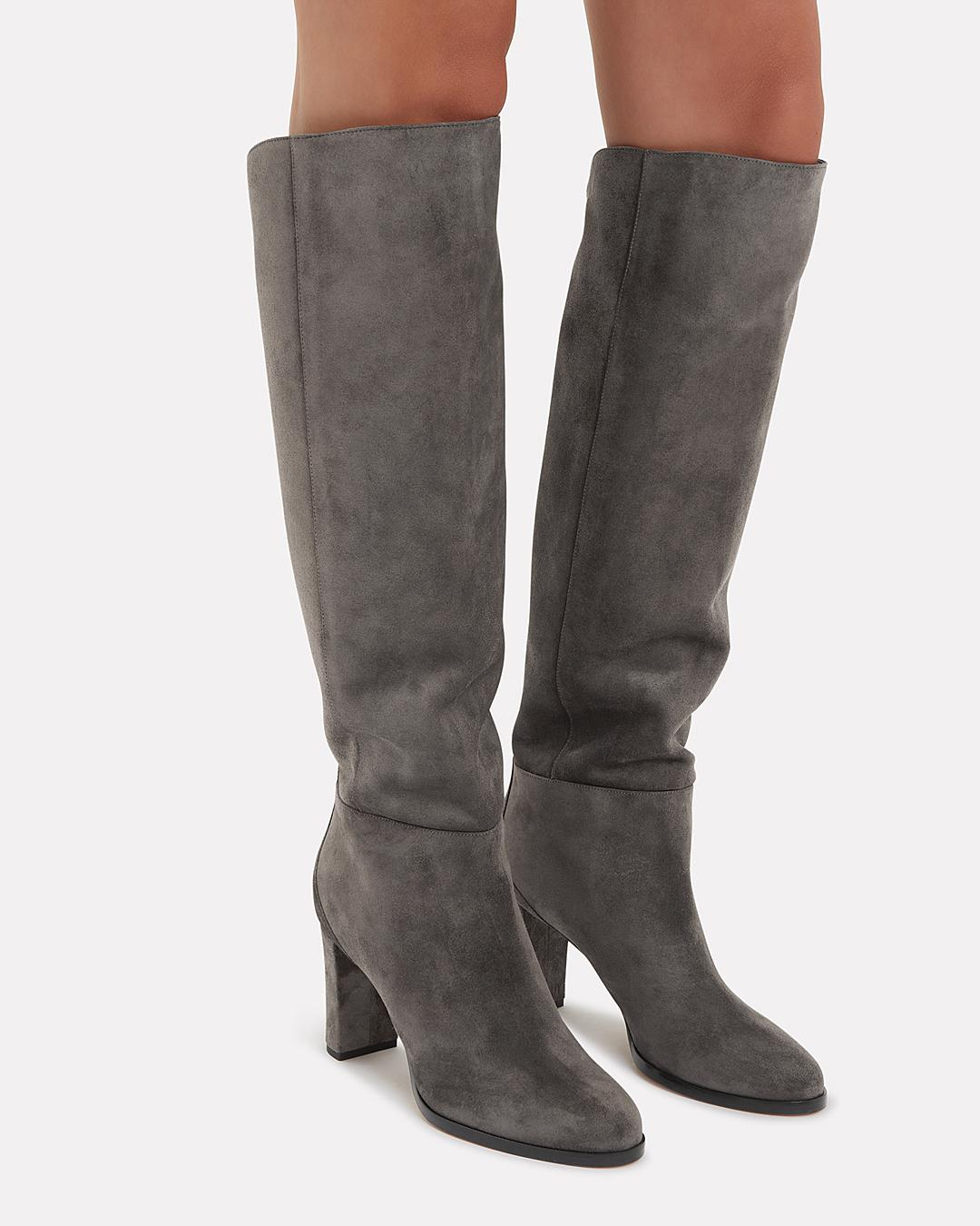 2145fb4fe4c Lyst - Jimmy Choo Madalie Suede Boots in Gray