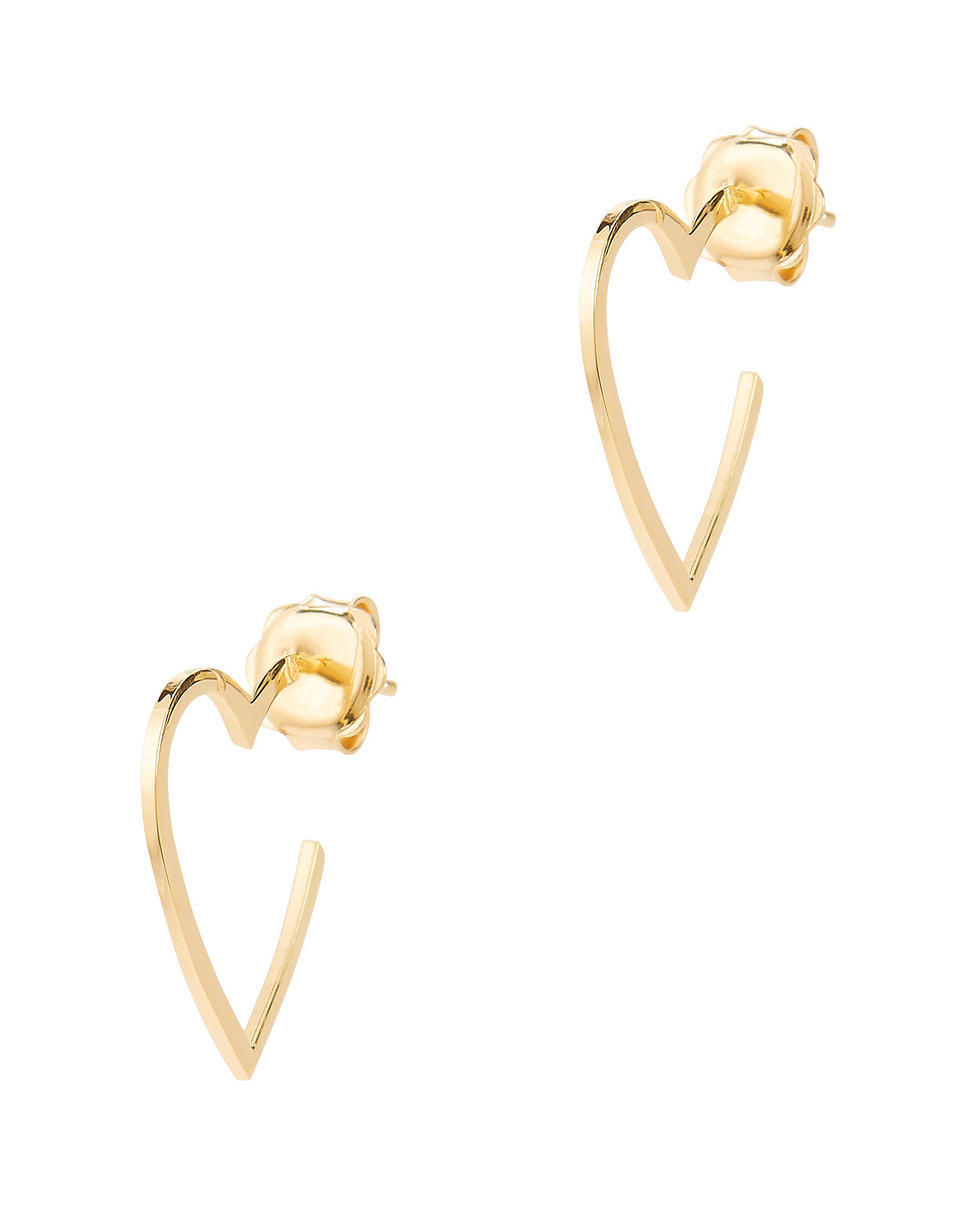 Jennifer Zeuner Larissa Mini Heart Hoop Earrings l7xcLfI