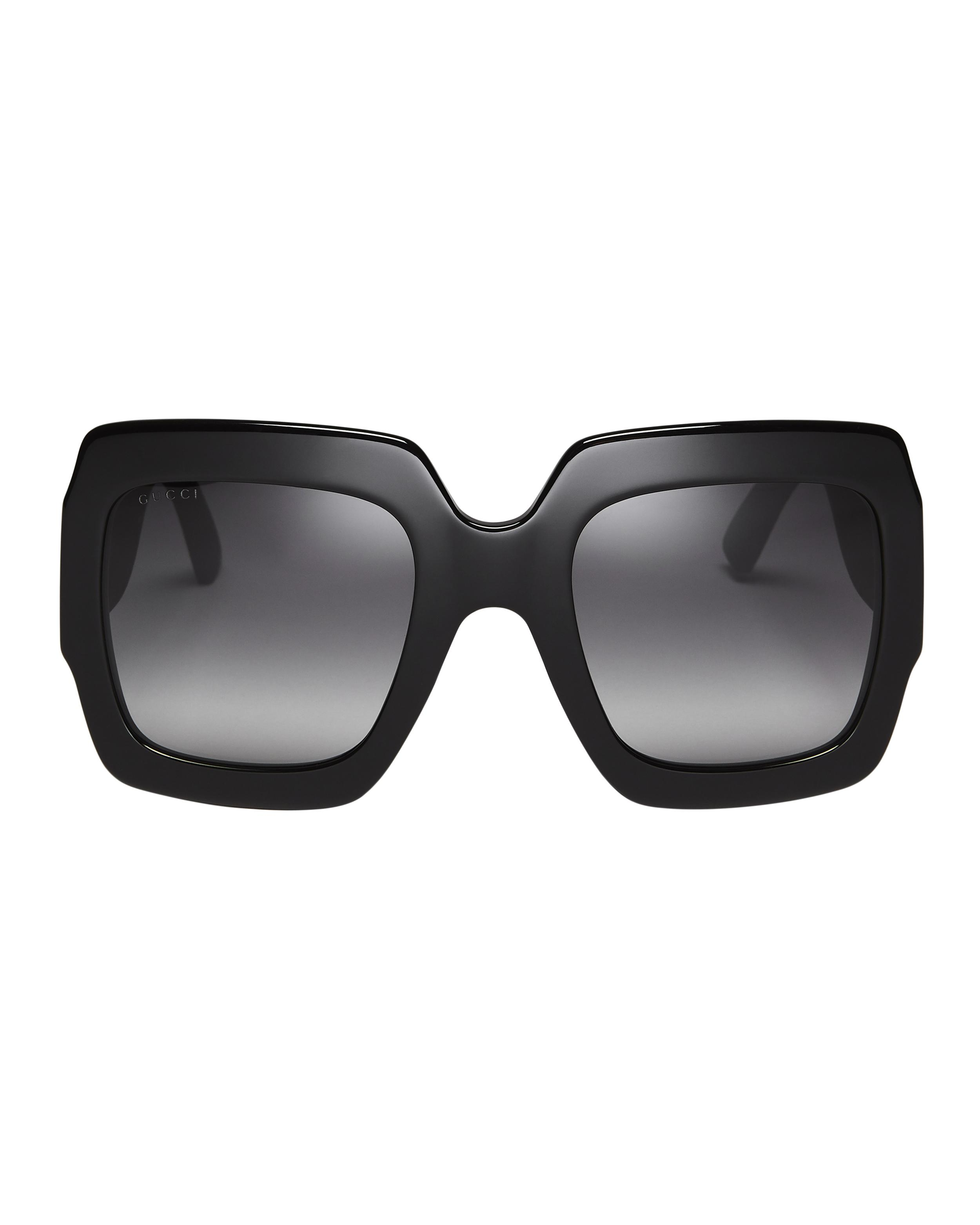 58f1be0079 Gucci - Black Oversized Glitter Square Sunglasses - Lyst. View fullscreen