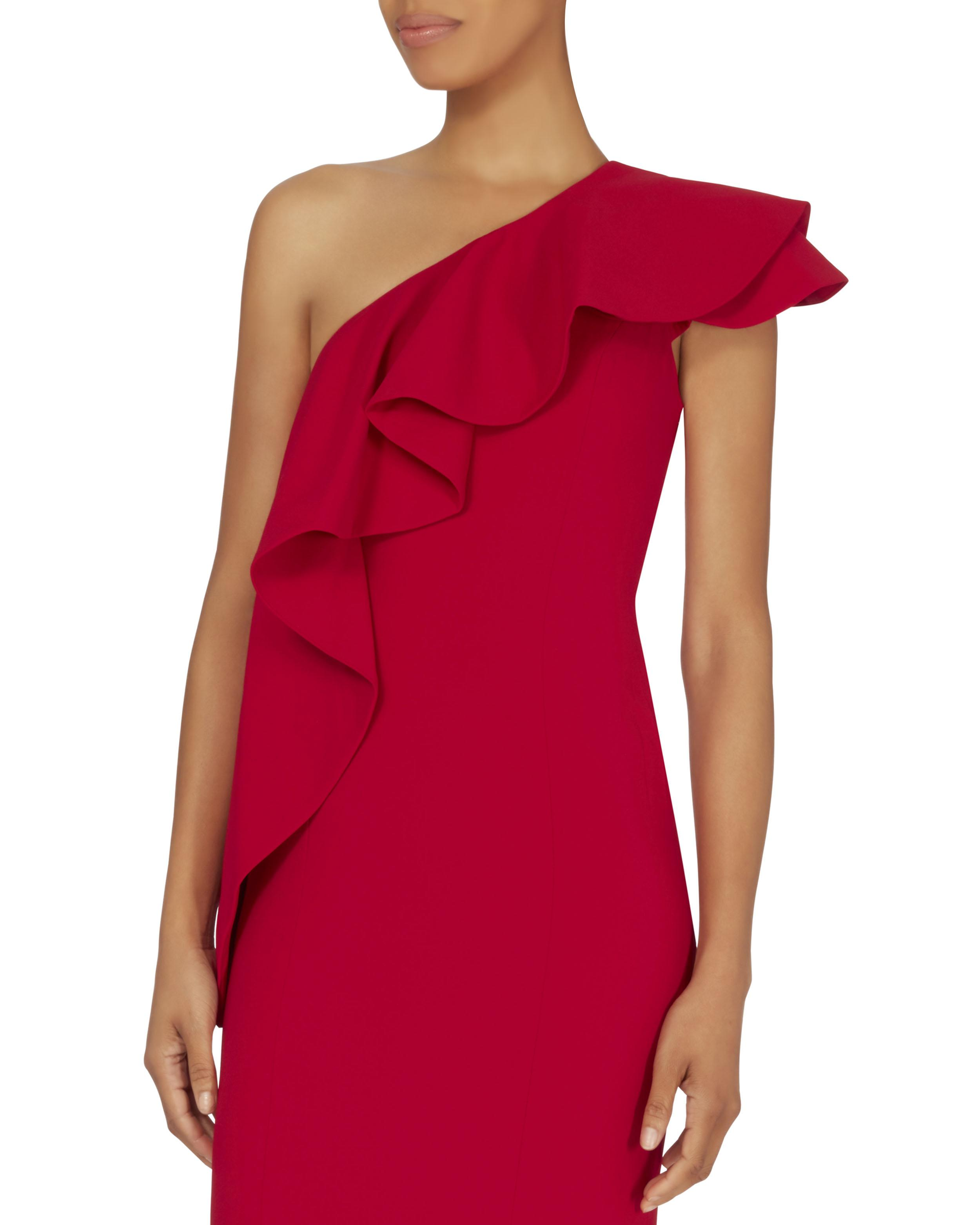 1c2cff4e5a0 Lyst - Jay Godfrey Taj One Shoulder Red Gown in Red