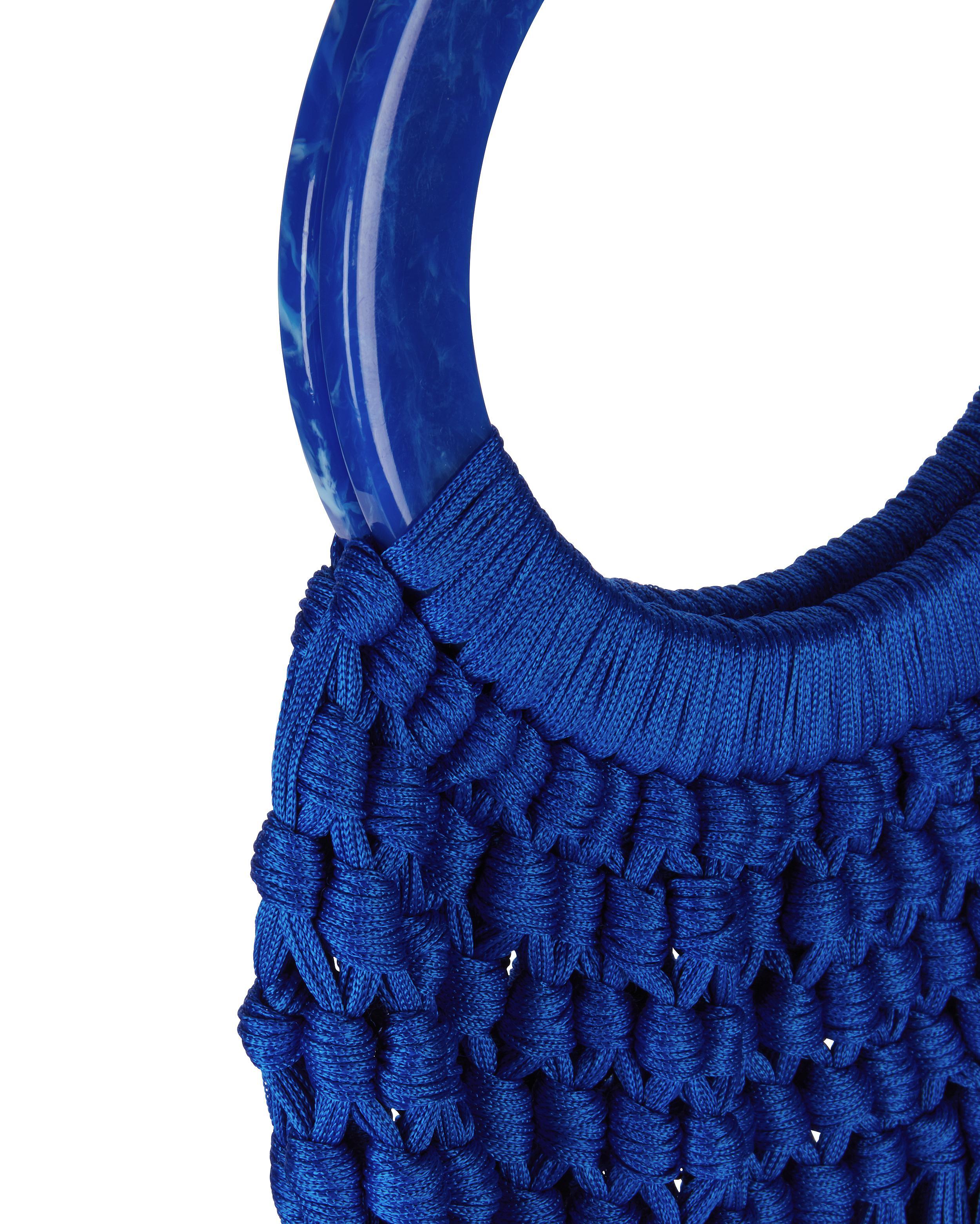 Lyst - Cult Gaia Cobalt Acrylic Handle Tassel Bag in Blue