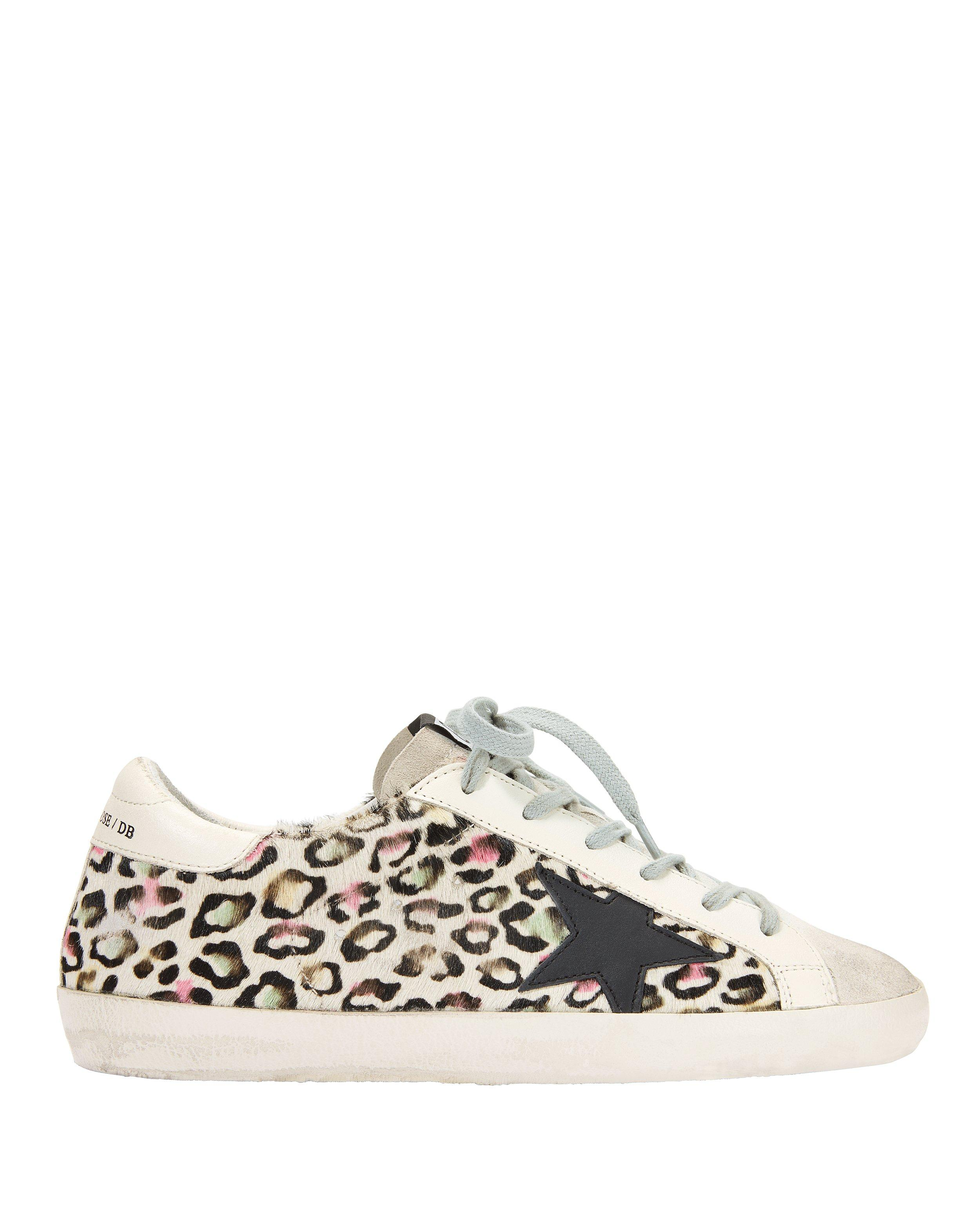 cheap for discount 53dfc 9fae8 Golden Goose Deluxe Brand. Women s Superstar Animal Print Sneakers