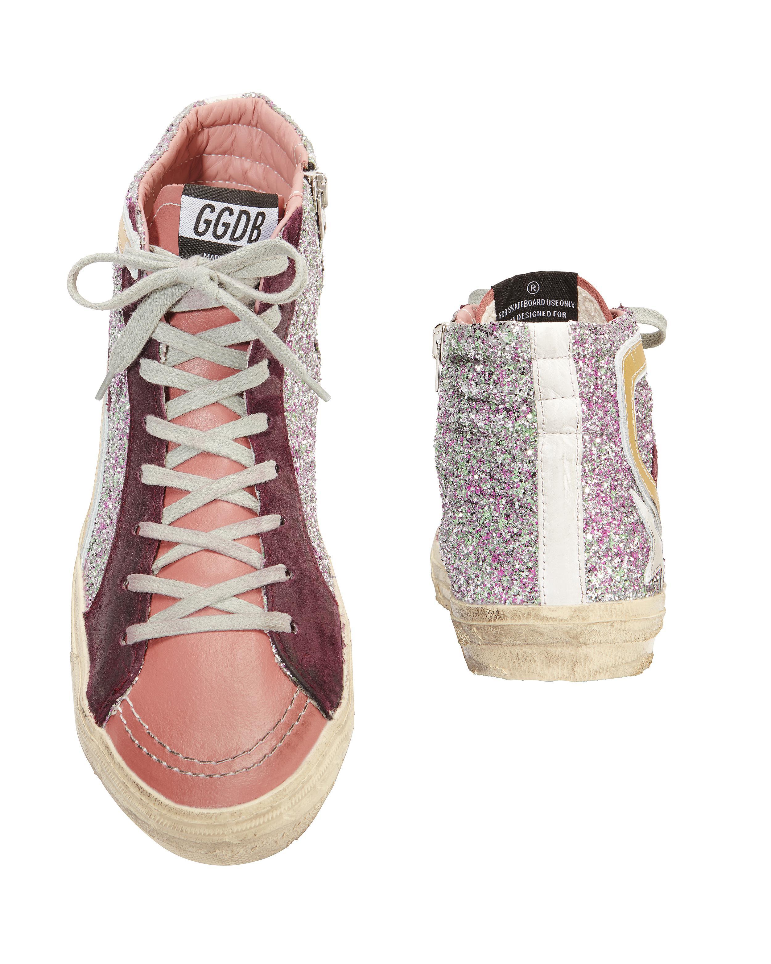 b3fdaec55073 Golden Goose Deluxe Brand Slide Hi Top Glitter Pink Sneakers in Pink ...