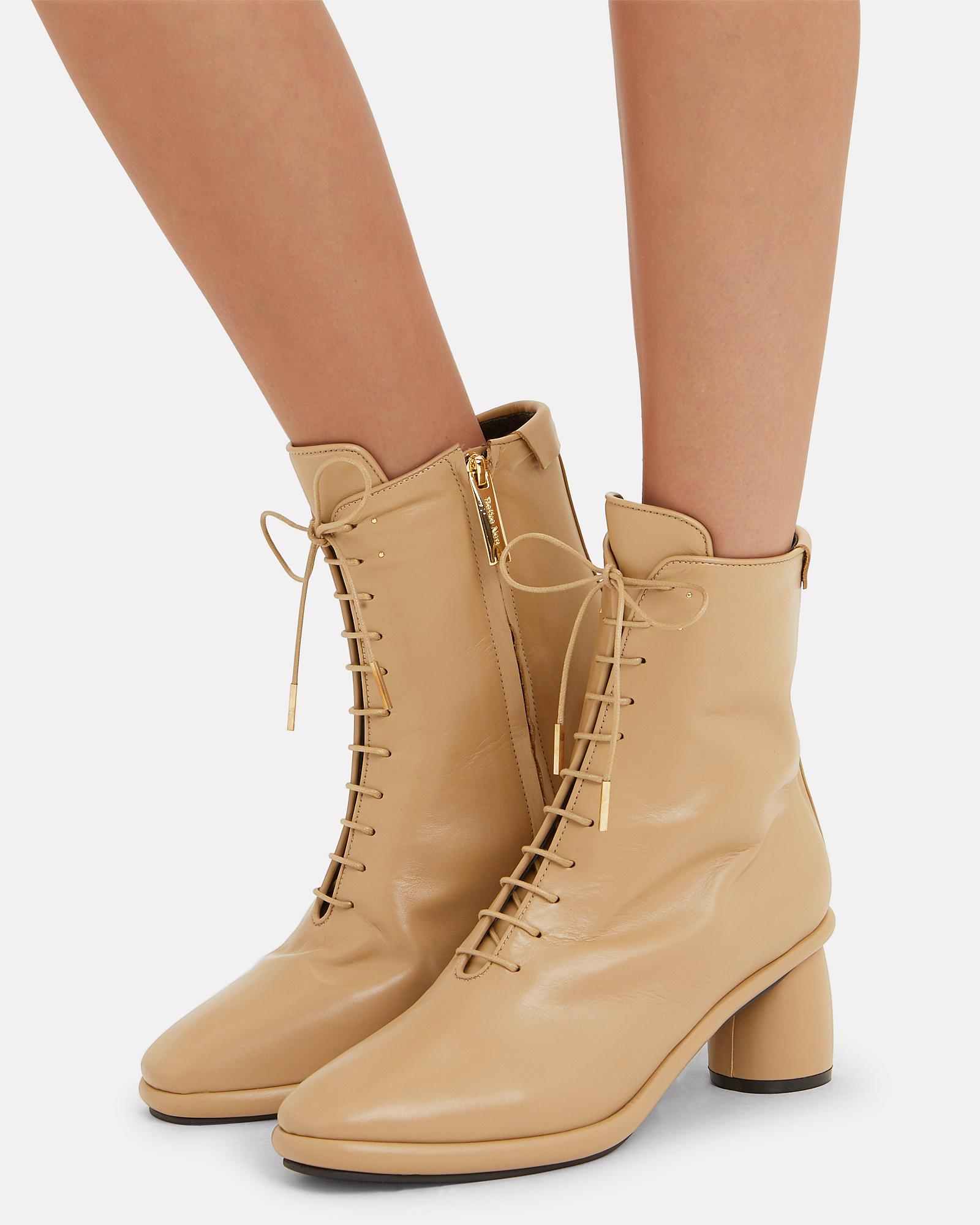 Reike Nen Leather Lace-up Beige Boots