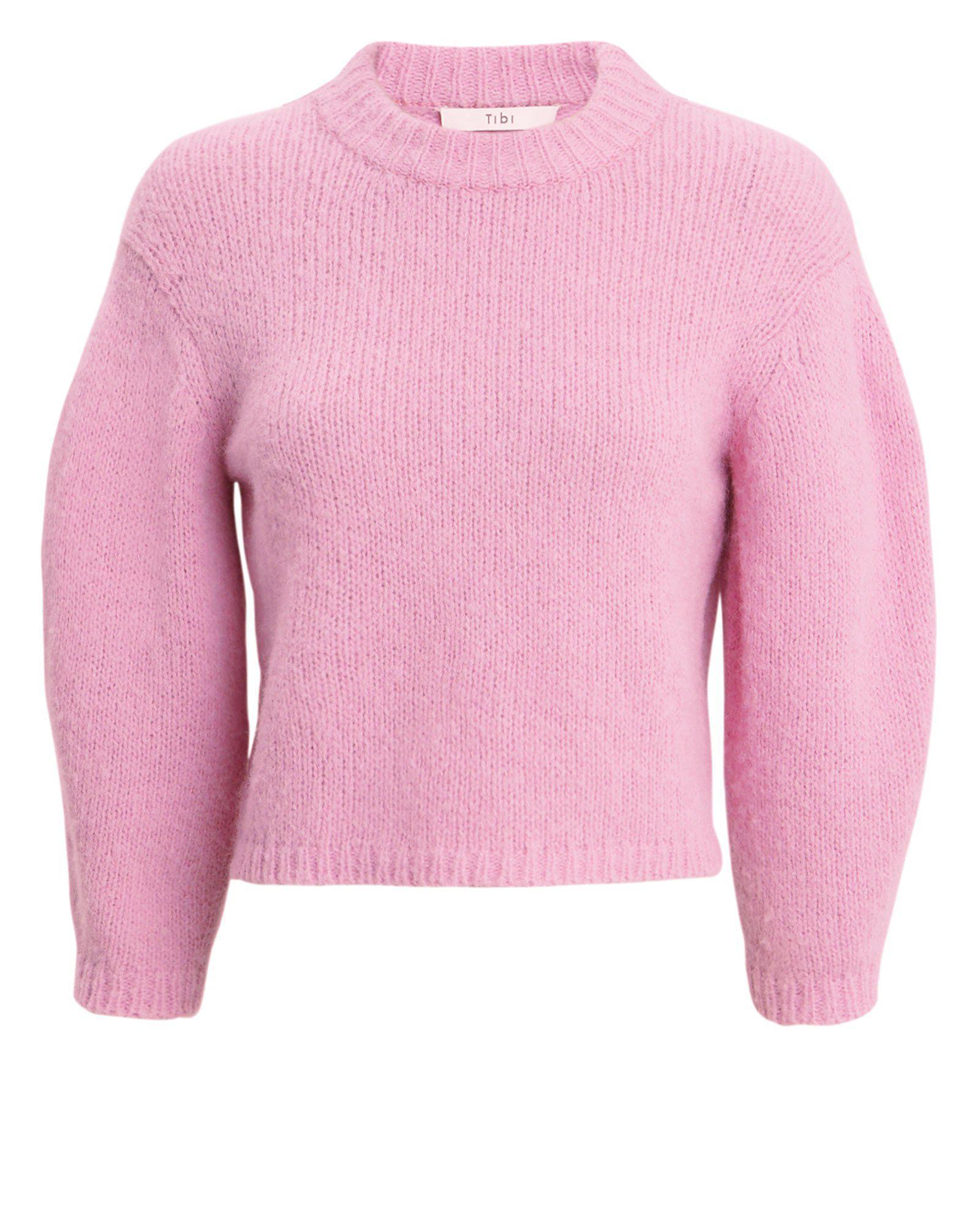 Textured Sweater Pink Tibi Lyst Fullscreen View Crop dqpxnz