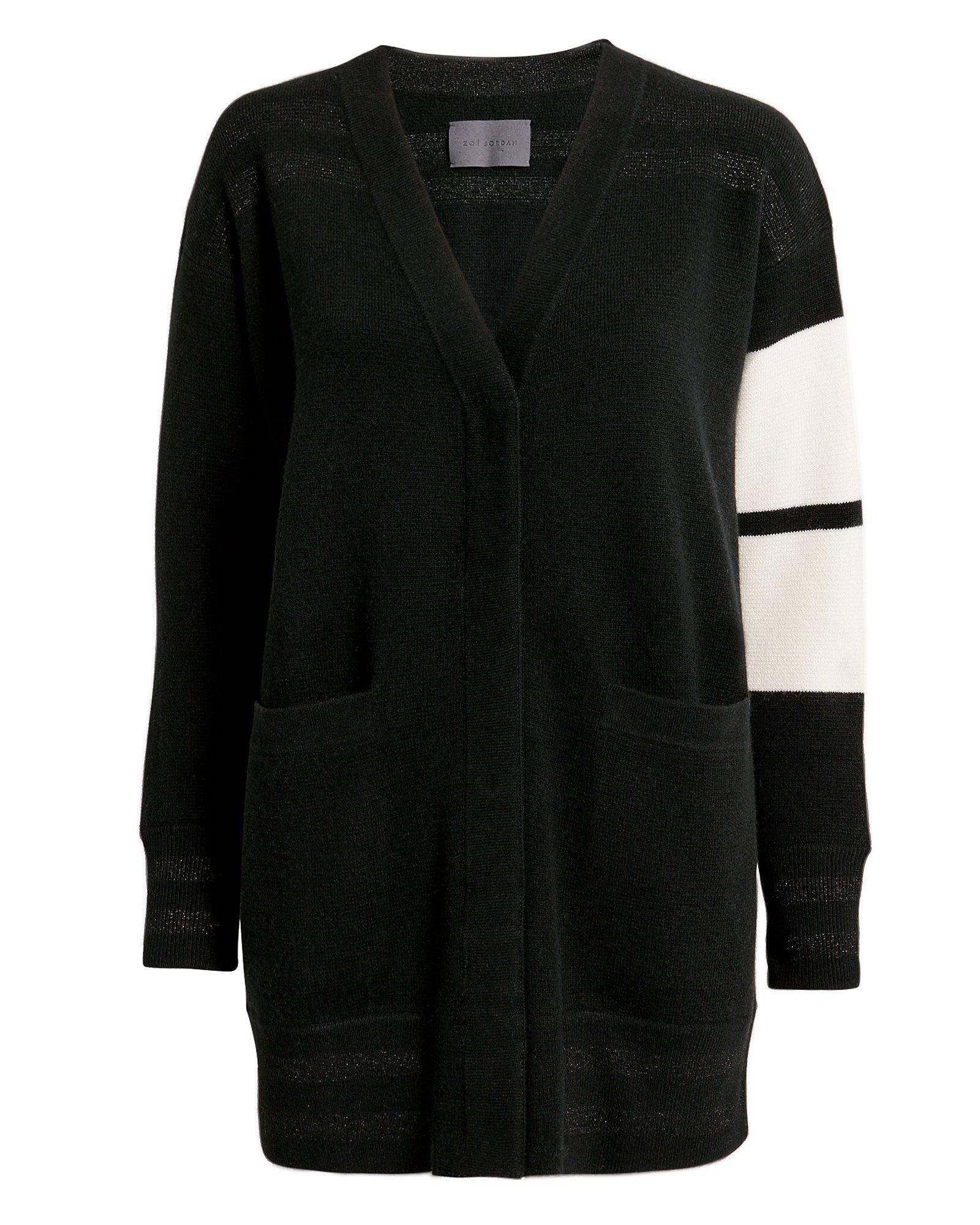da4e1ab0df99 Lyst - Zoe Jordan Longline Edison Cardigan in Black