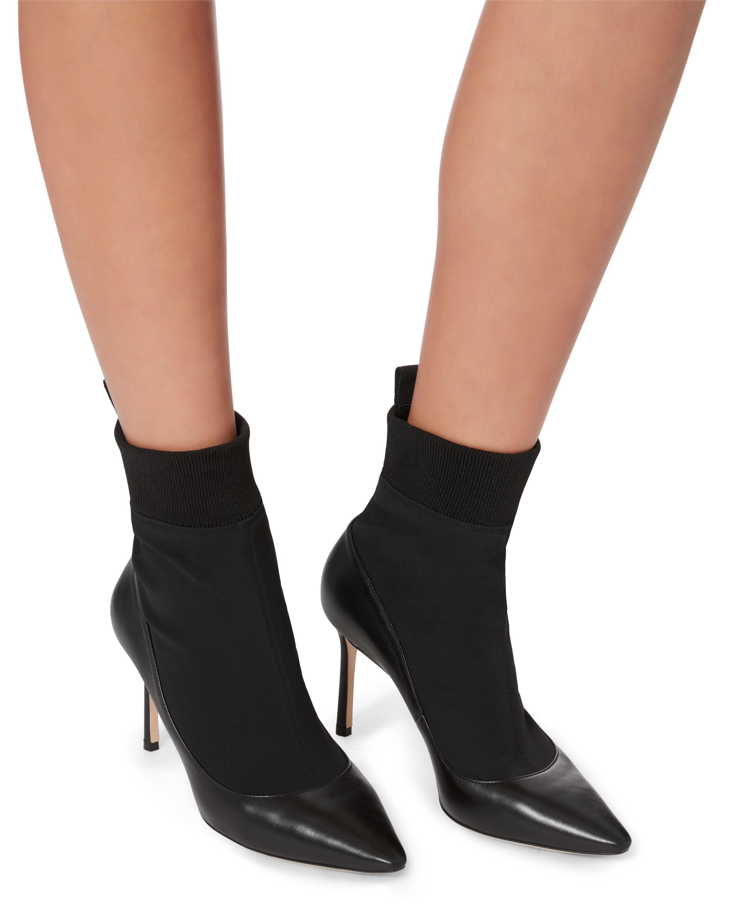 Jimmy Choo Leather Brandon Sock Booties