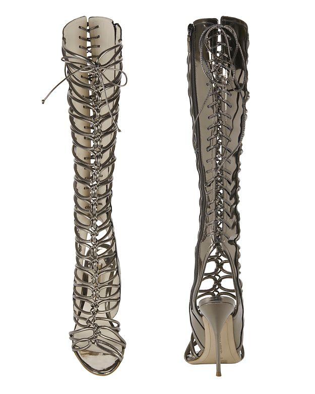 Sophia webster Lacey Heel in Black | Lyst