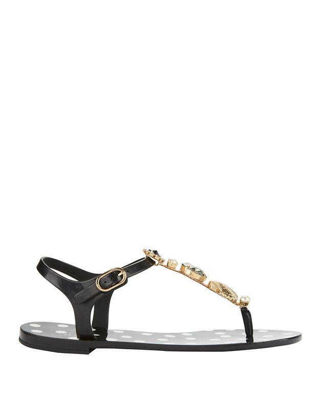 0800277fb45f Lyst - Dolce   Gabbana Dolce  amp  Gabbana Crystal Thong Beachwear ...