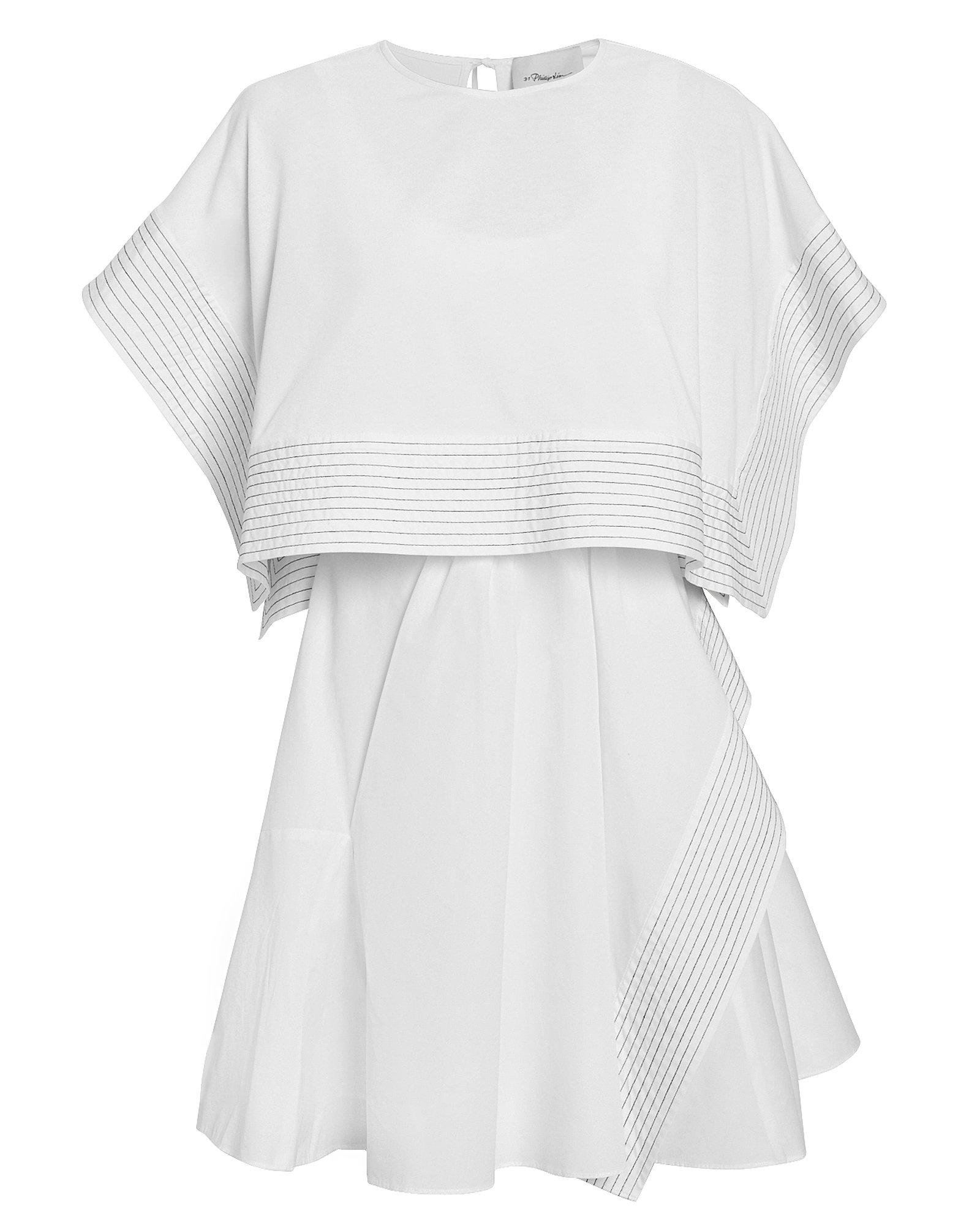 518cb4974c30e5 Lyst - 3.1 Phillip Lim Boxy Crop Top Mini Dress in White