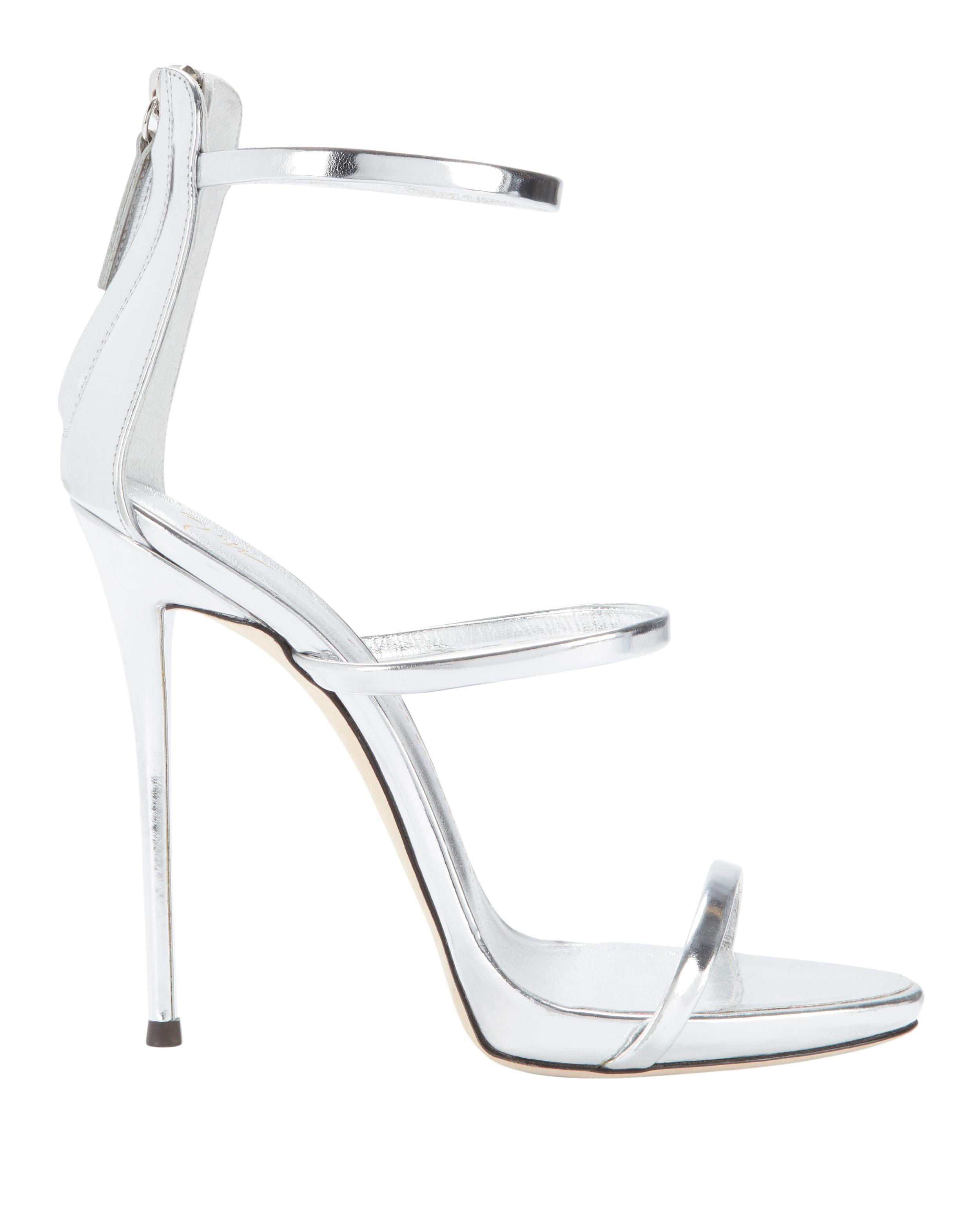 579101d0165 Lyst - Giuseppe Zanotti Coline Silver Strappy Sandals in Metallic ...