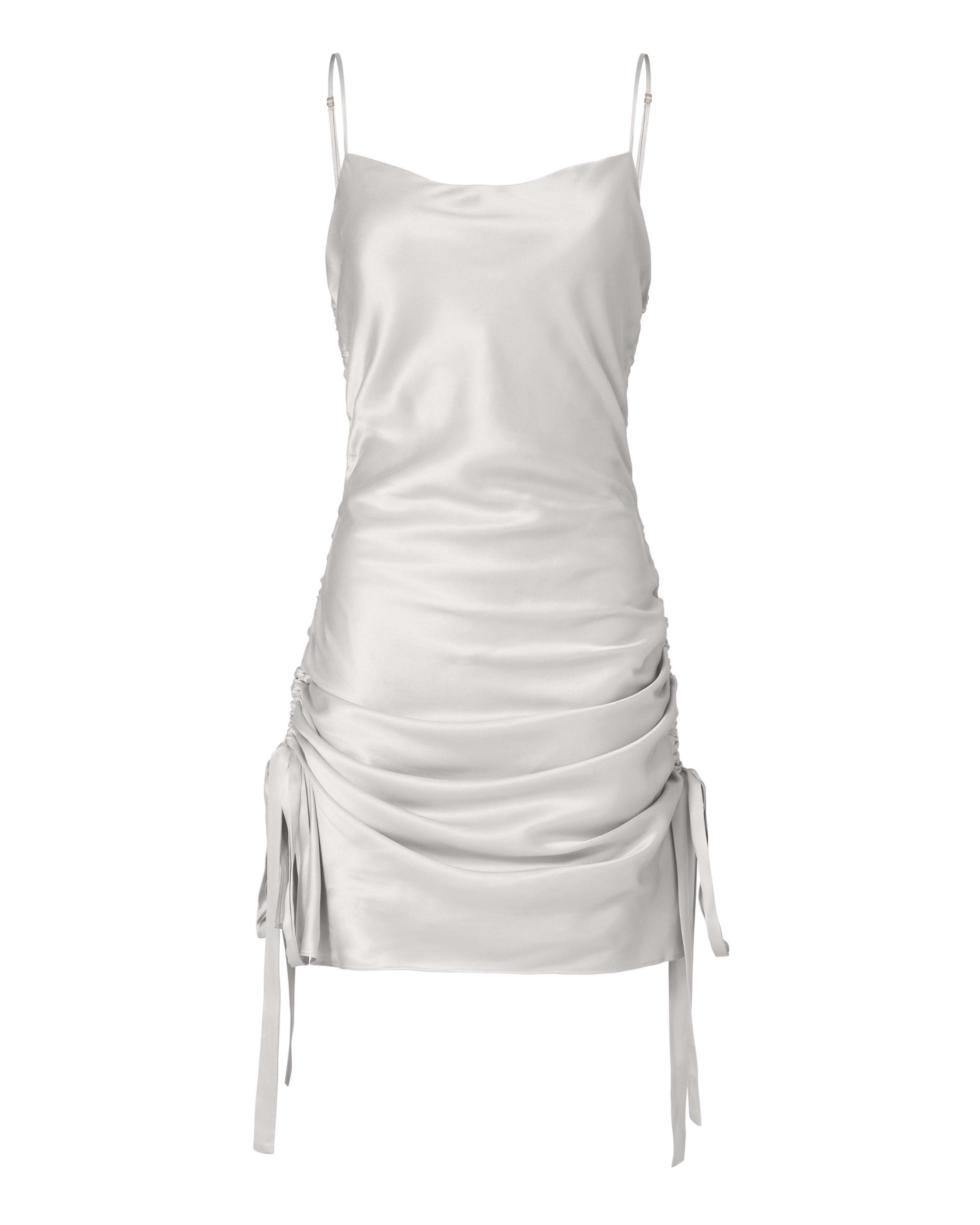 016b0ee3b7a4 Zimmermann Ruched Slip Mini Dress in Metallic - Lyst