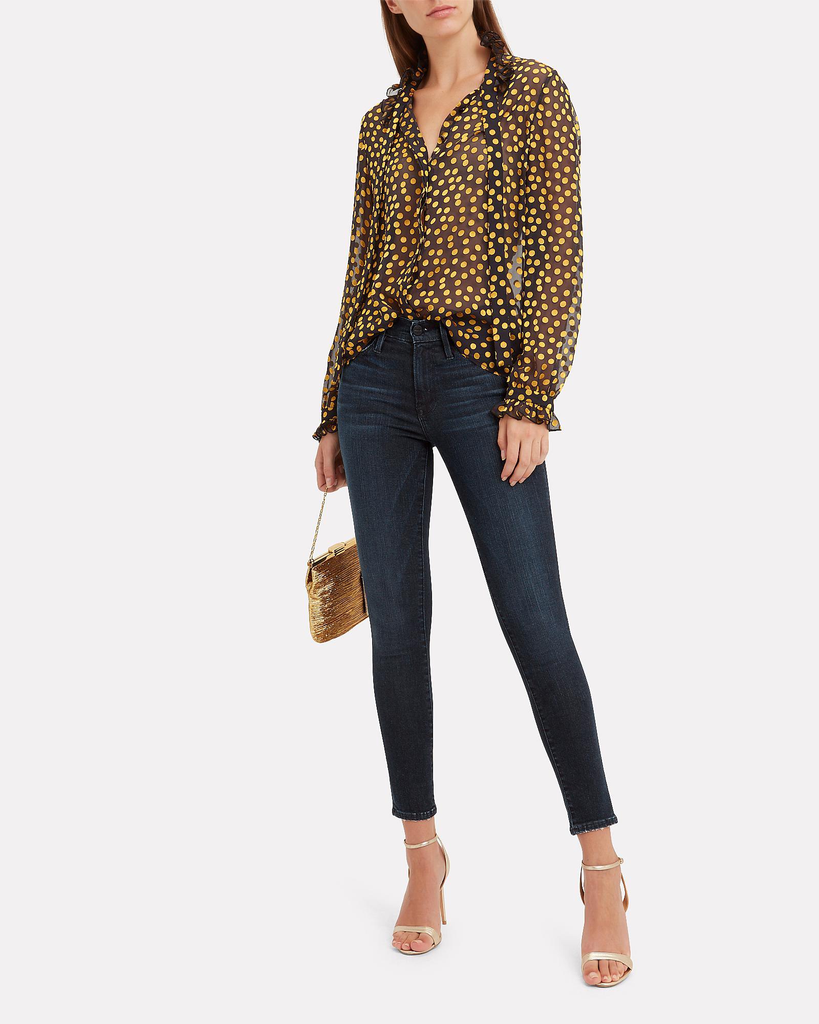 64da8965b80bd Lyst - FRAME Le Skinny De Jeanne St. Jones Jeans in Blue