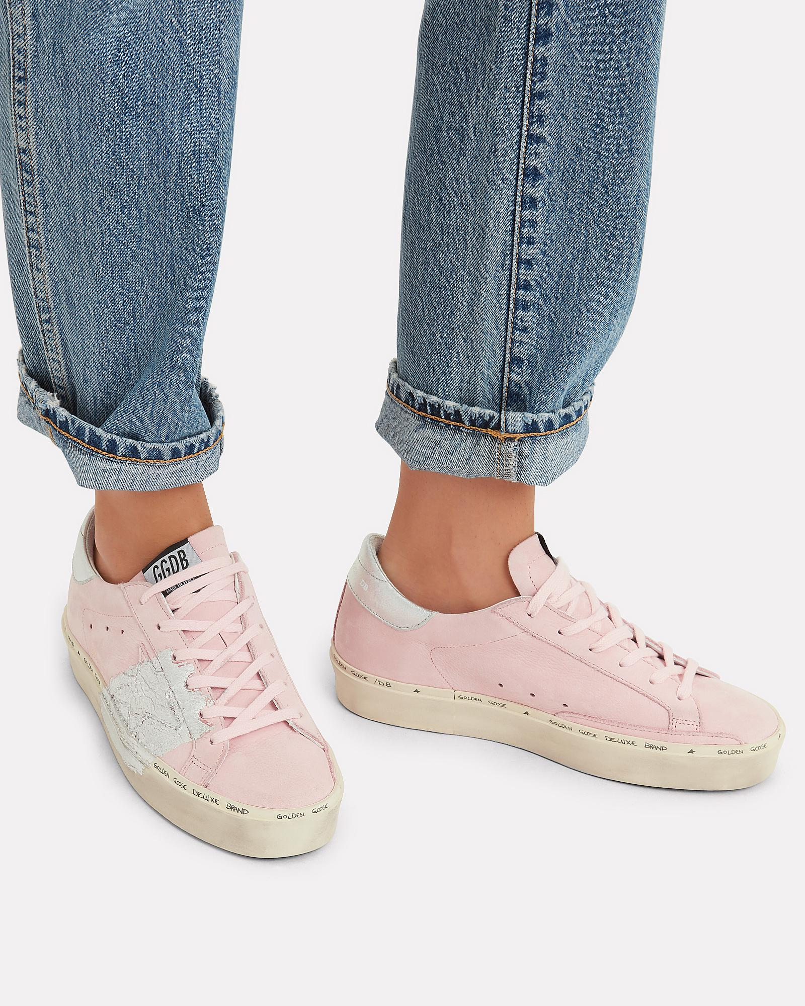 Hi Star Silver Paint Pink Leather Low top Sneakers