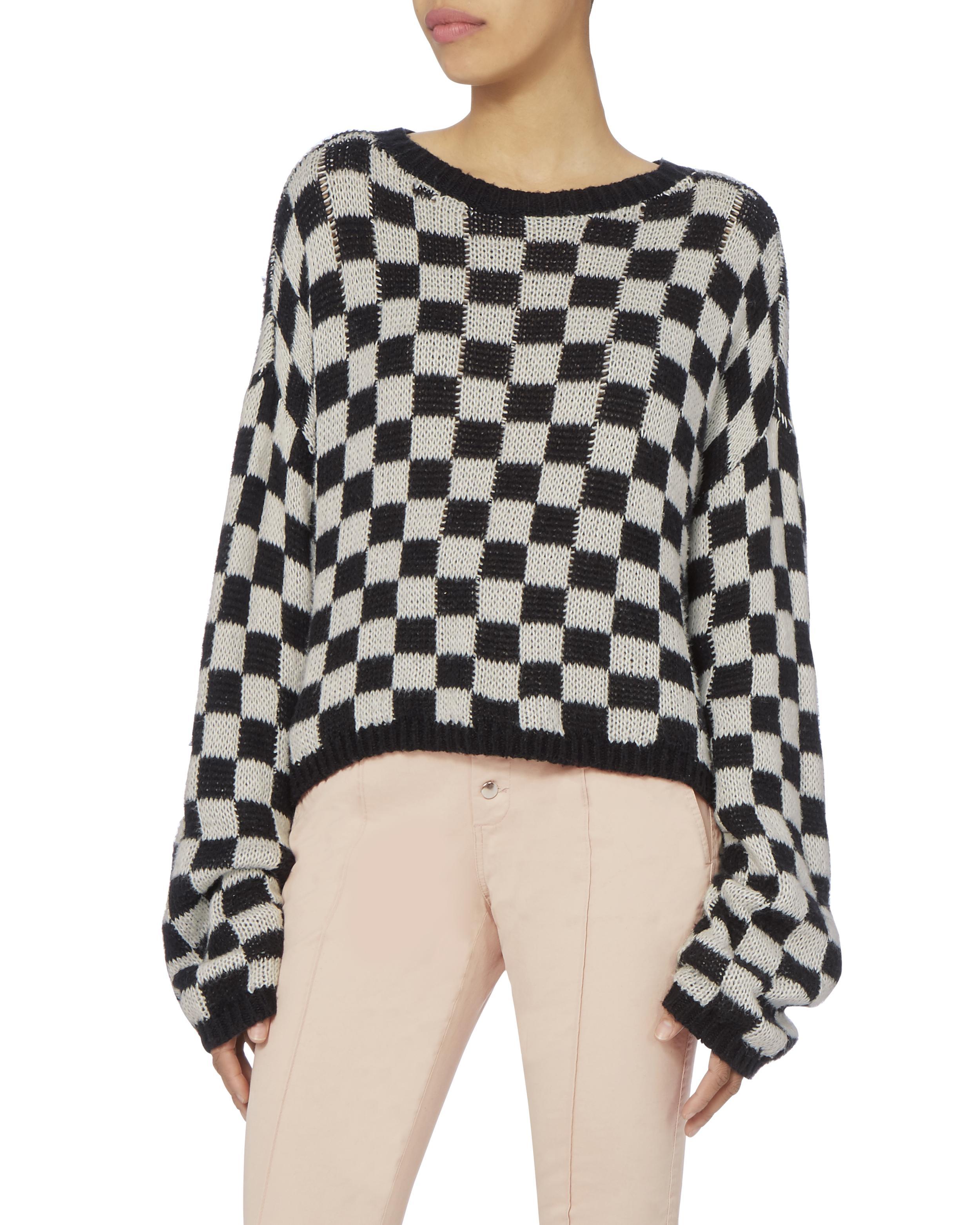 fe3513eecd A.L.C. Remington Checkerboard Sweater - Lyst