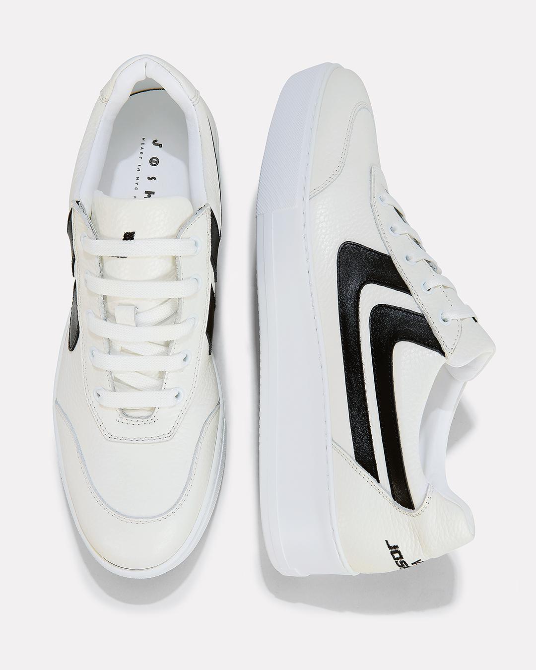 Stripe Platform Sneakers in White