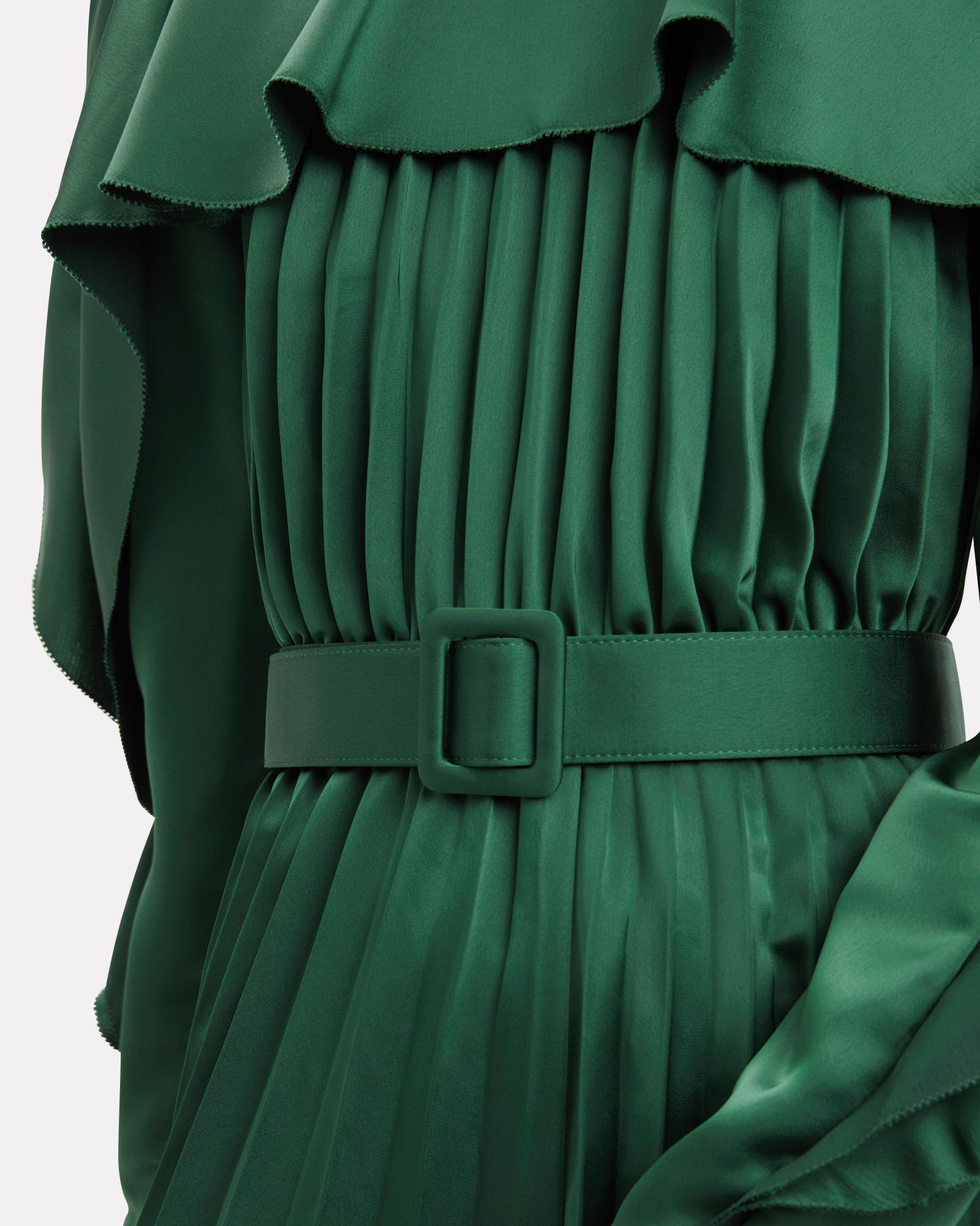 cf850ddbd1 Lyst - Self-Portrait Emerald Green Pleated Frill Jumpsuit in Green