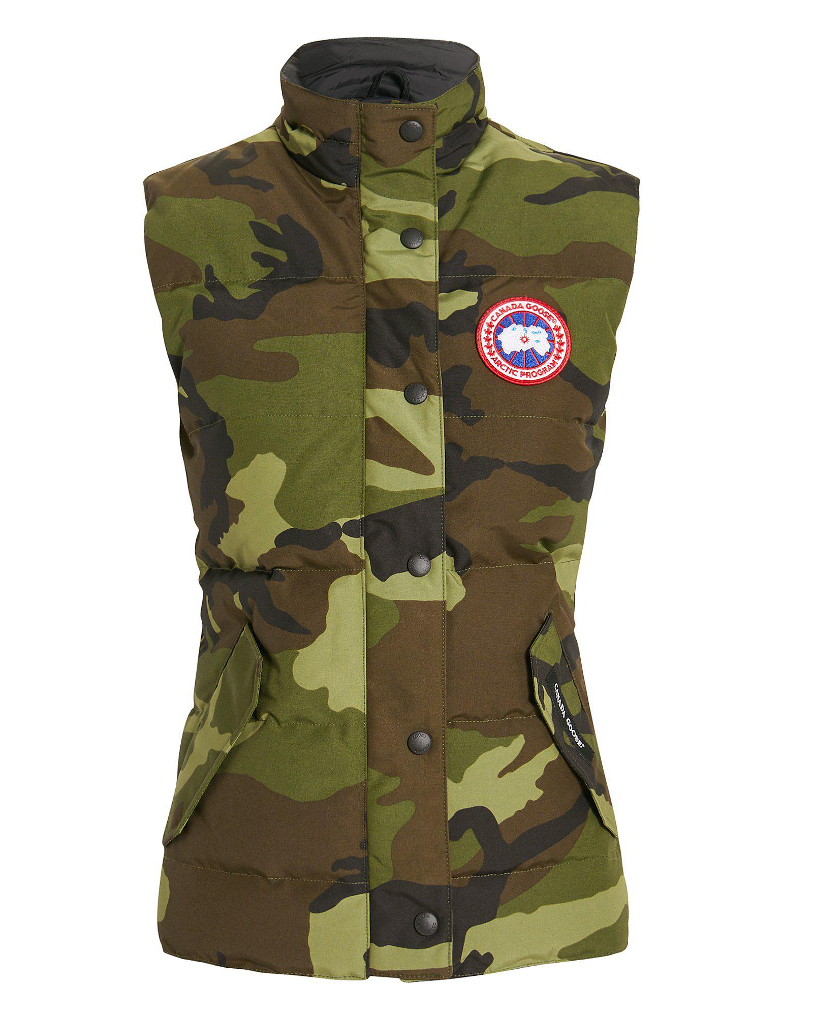 lyst canada goose freestyle camo vest in green rh lyst com