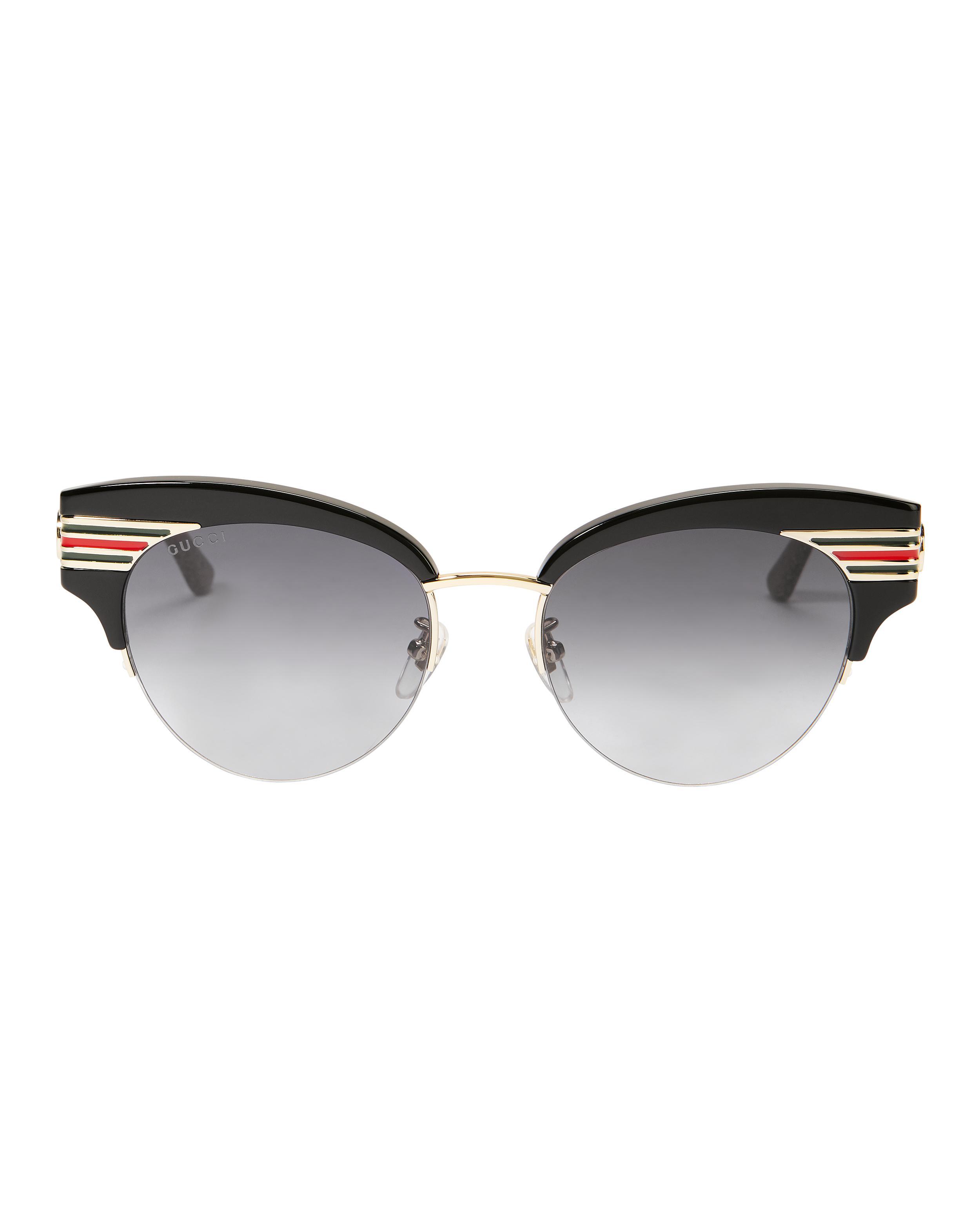 60c1c6f3058 Gucci - Black Vintage Signature Stripe Sunglasses - Lyst. View fullscreen