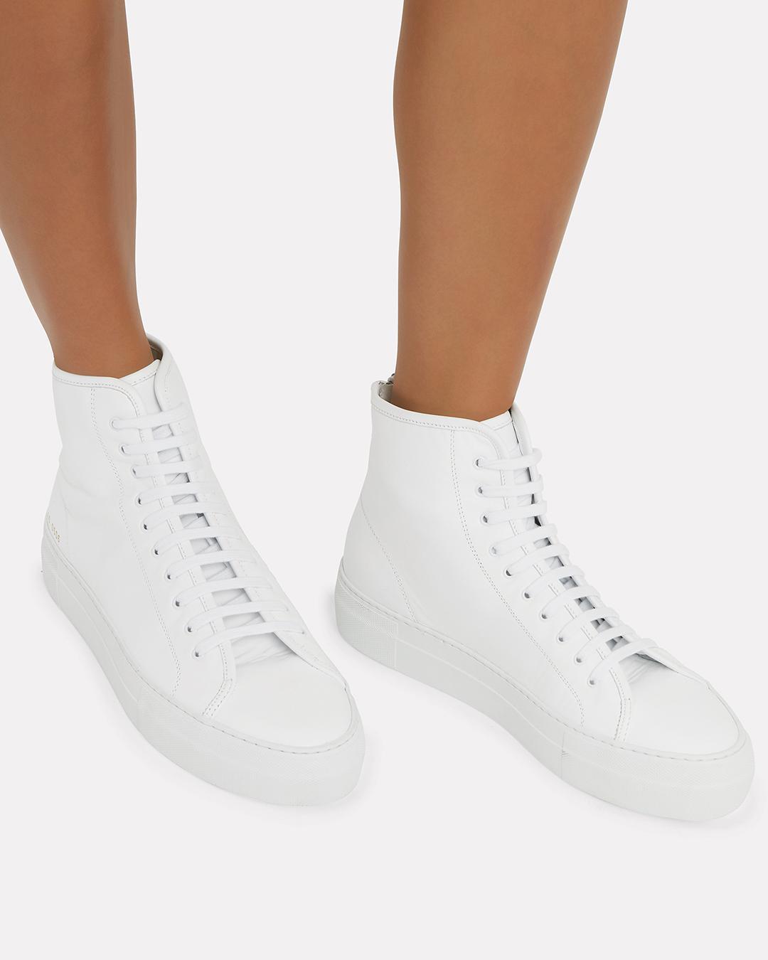 White Tournament High Super Sneakers