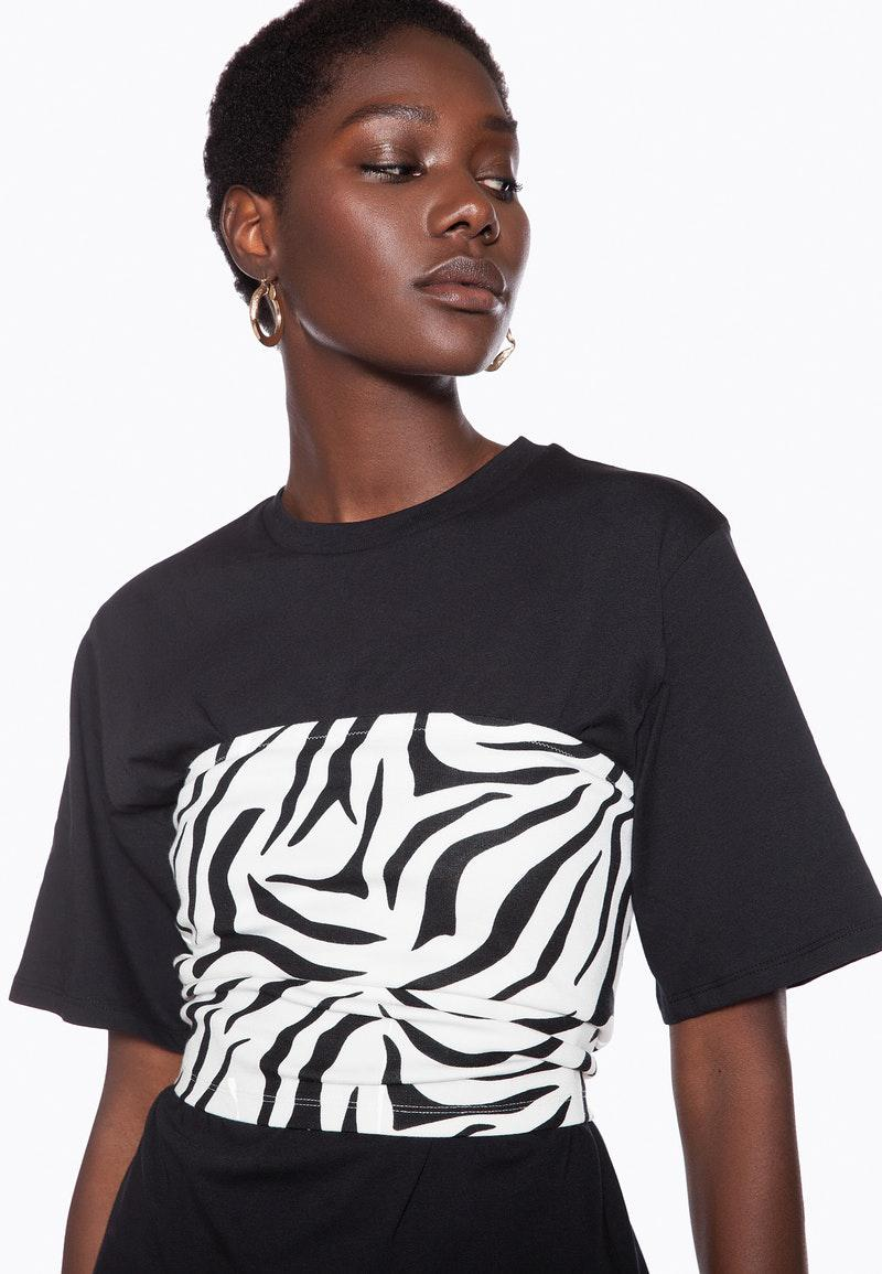 317c4f1c20 Ivyrevel - Black Tube Top Zebra Print - Lyst. View fullscreen