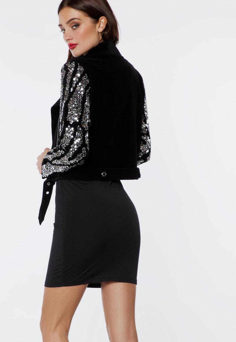 lyst ivyrevel blanche jacket black deco in black. Black Bedroom Furniture Sets. Home Design Ideas