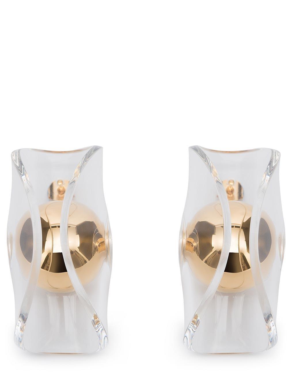 JW Anderson Gold Globe Earring in Metallic