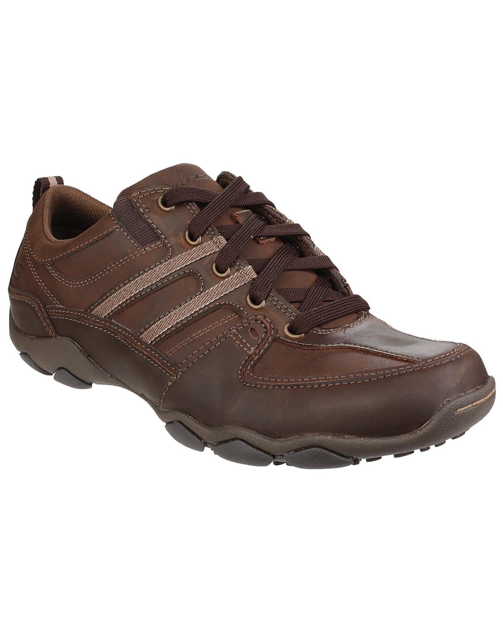 af86c7153e1f Skechers Diameter Selent Lace Up Shoe in Brown for Men - Lyst