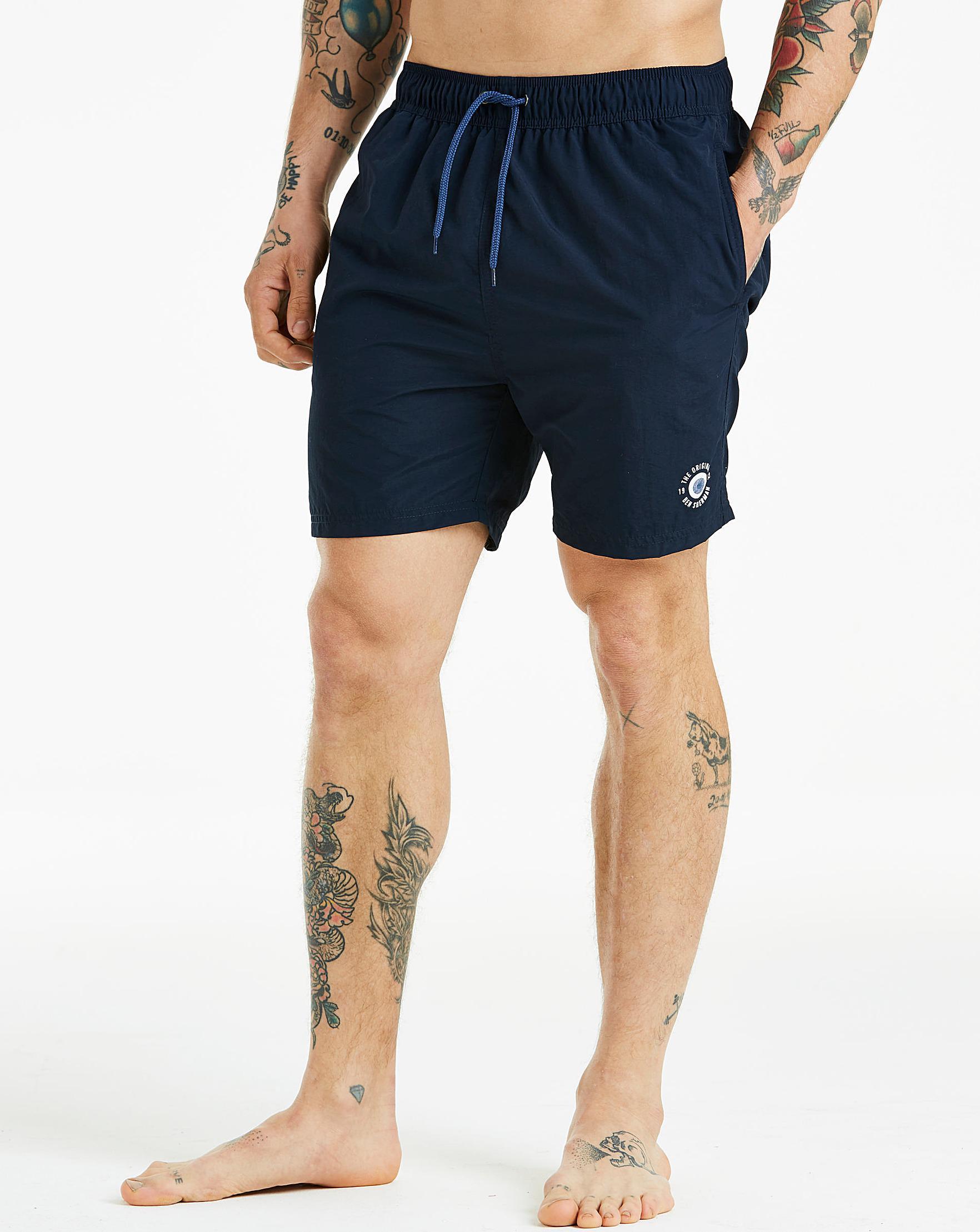 80998cfb8973e Ben Sherman Inpanema Navy Swim Shorts in Blue for Men - Lyst