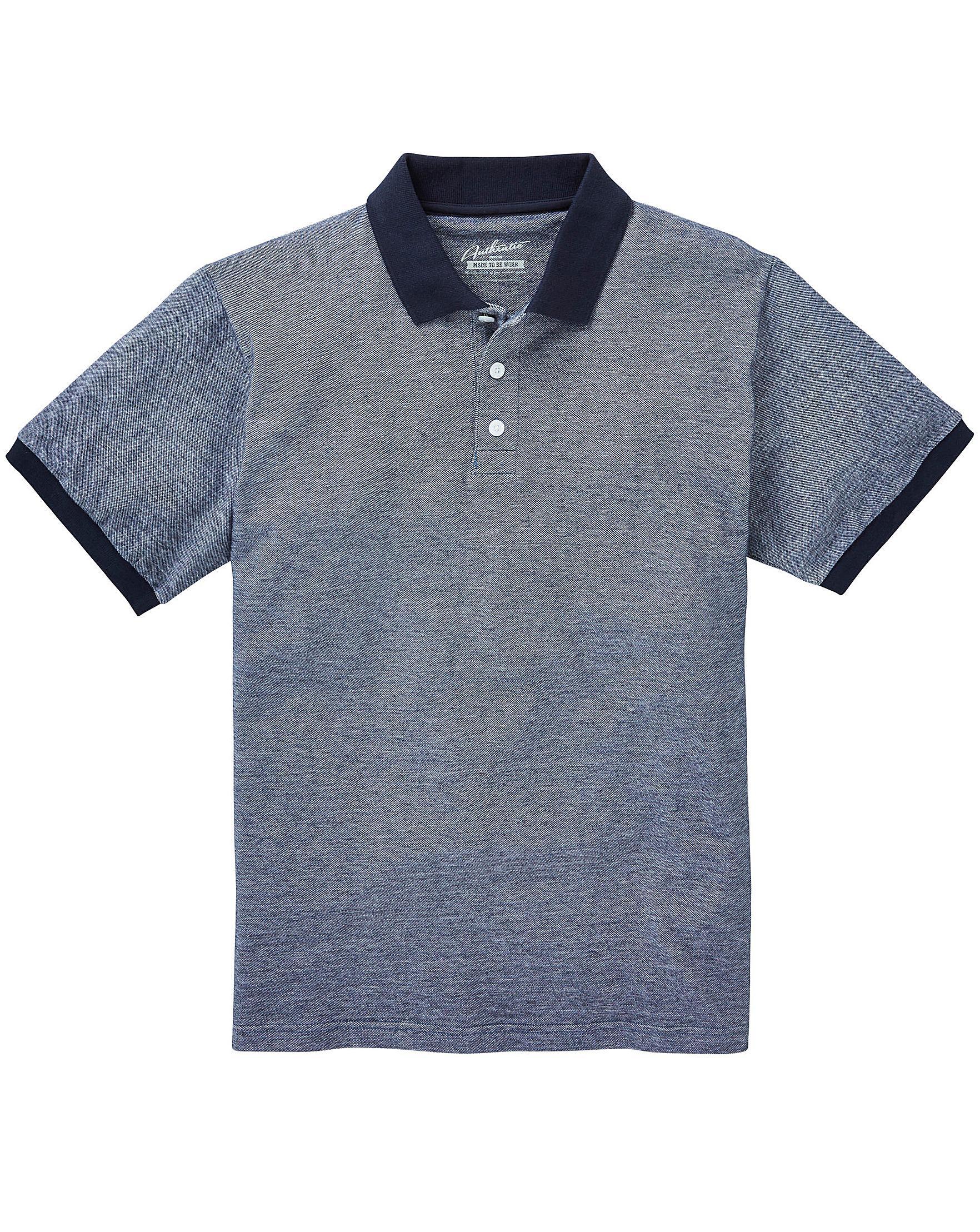 Mens Shango Oxford Pique Polo Shirt Jacamo Outlet Latest Collections uOXPcSgh