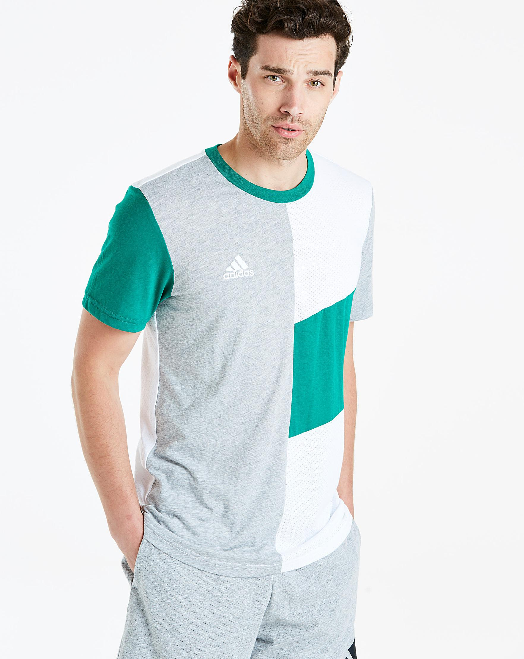 detailing e95ea aedab Adidas Block Tee in Green for Men - Lyst