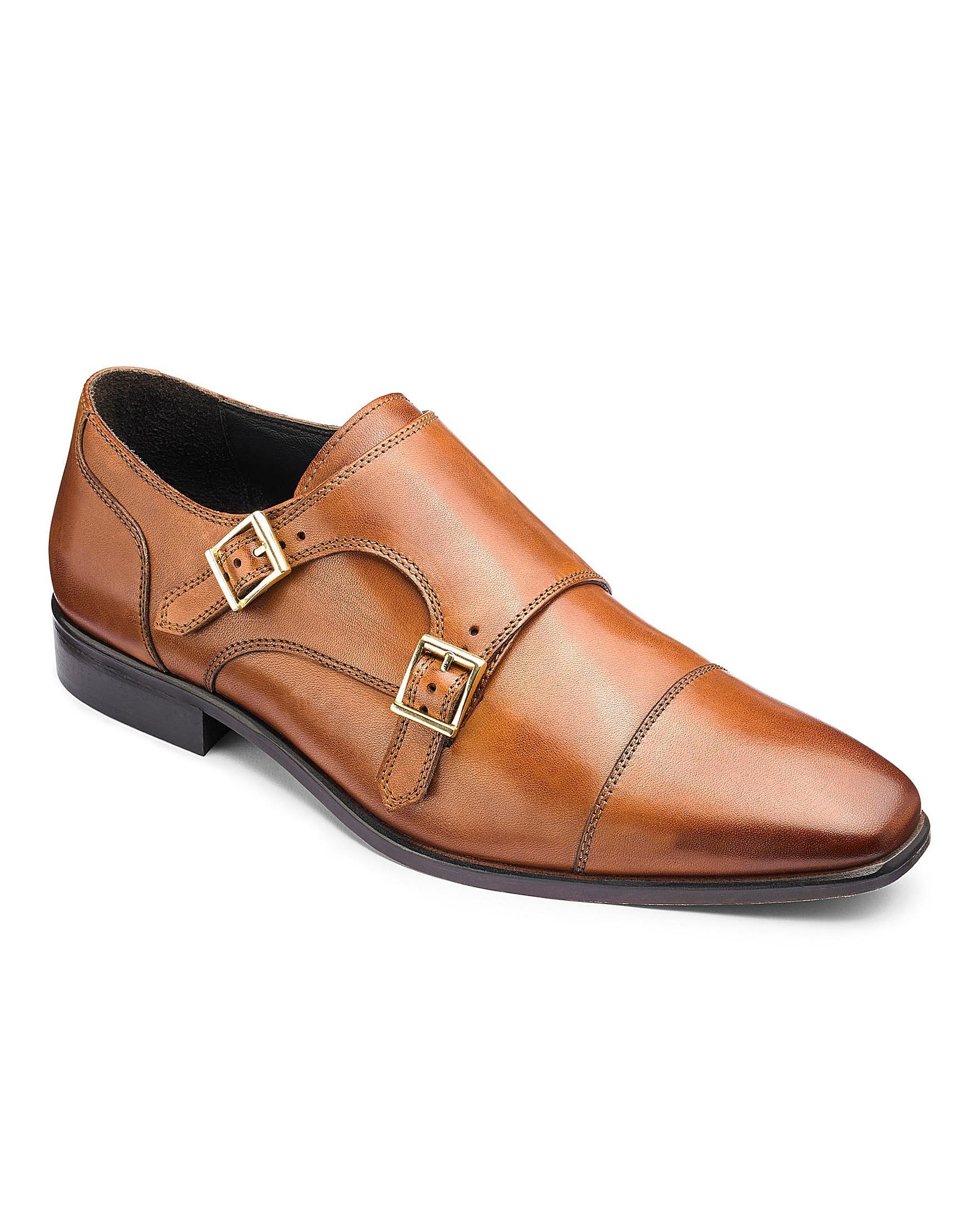 8d81463d3057b Jacamo Premium Leather Double Monk Shoes in Brown for Men - Lyst