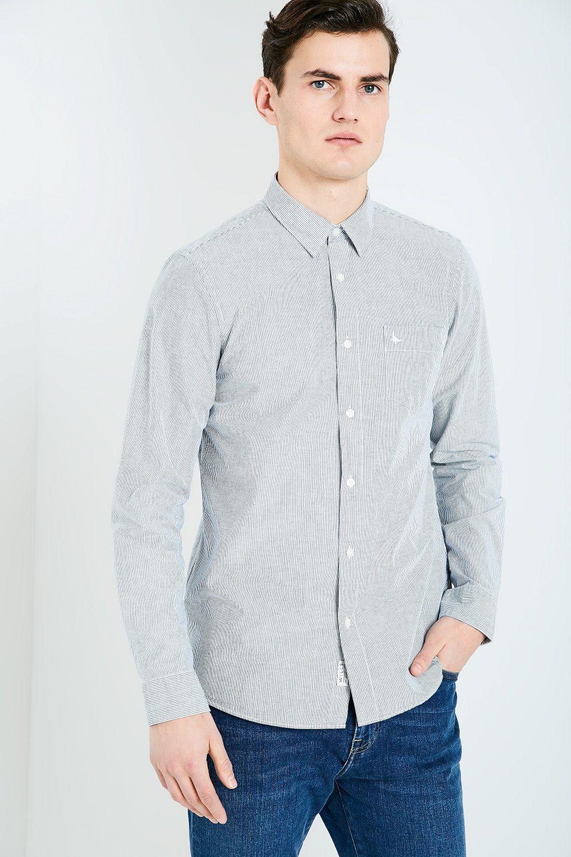 Jack Wills. Men's Blue Salcombe Nevis Stripe Shirt