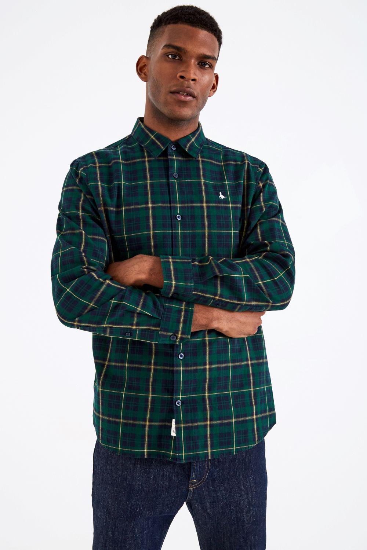 Jack Wills. Men's Green Salcombe Lw Flannel Check Shirt