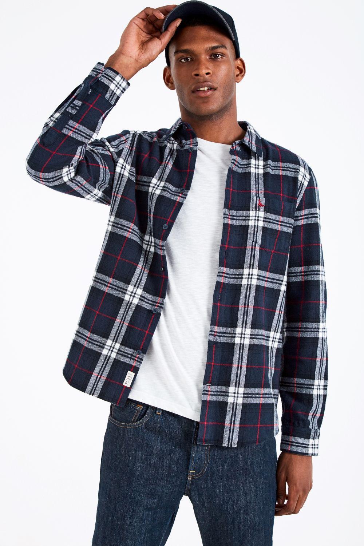 Jack Wills. Men's Blue Stanwick Mw Flannel Check Shirt