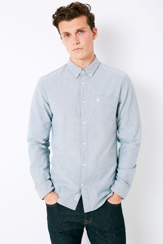 Jack Wills. Men's Blue Twisleton Oxford Dobby Shirt
